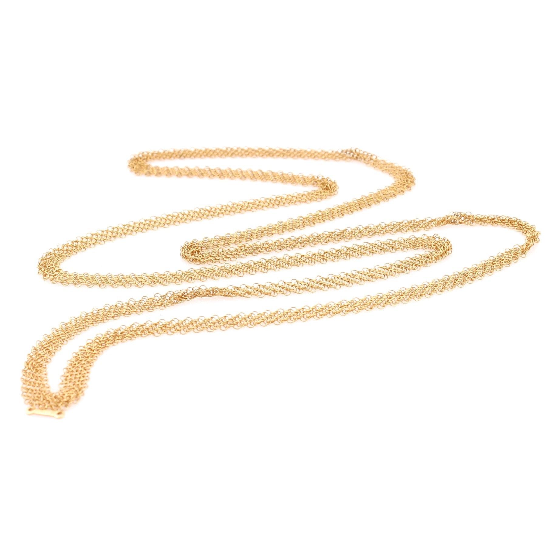 Elsa Peretti Tiffany & Co. 18K Yellow Gold Mesh Necklace
