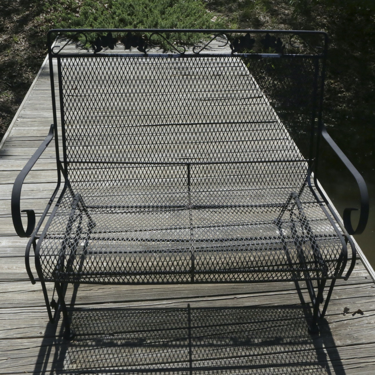 Outdoor Wrought Metal Bench