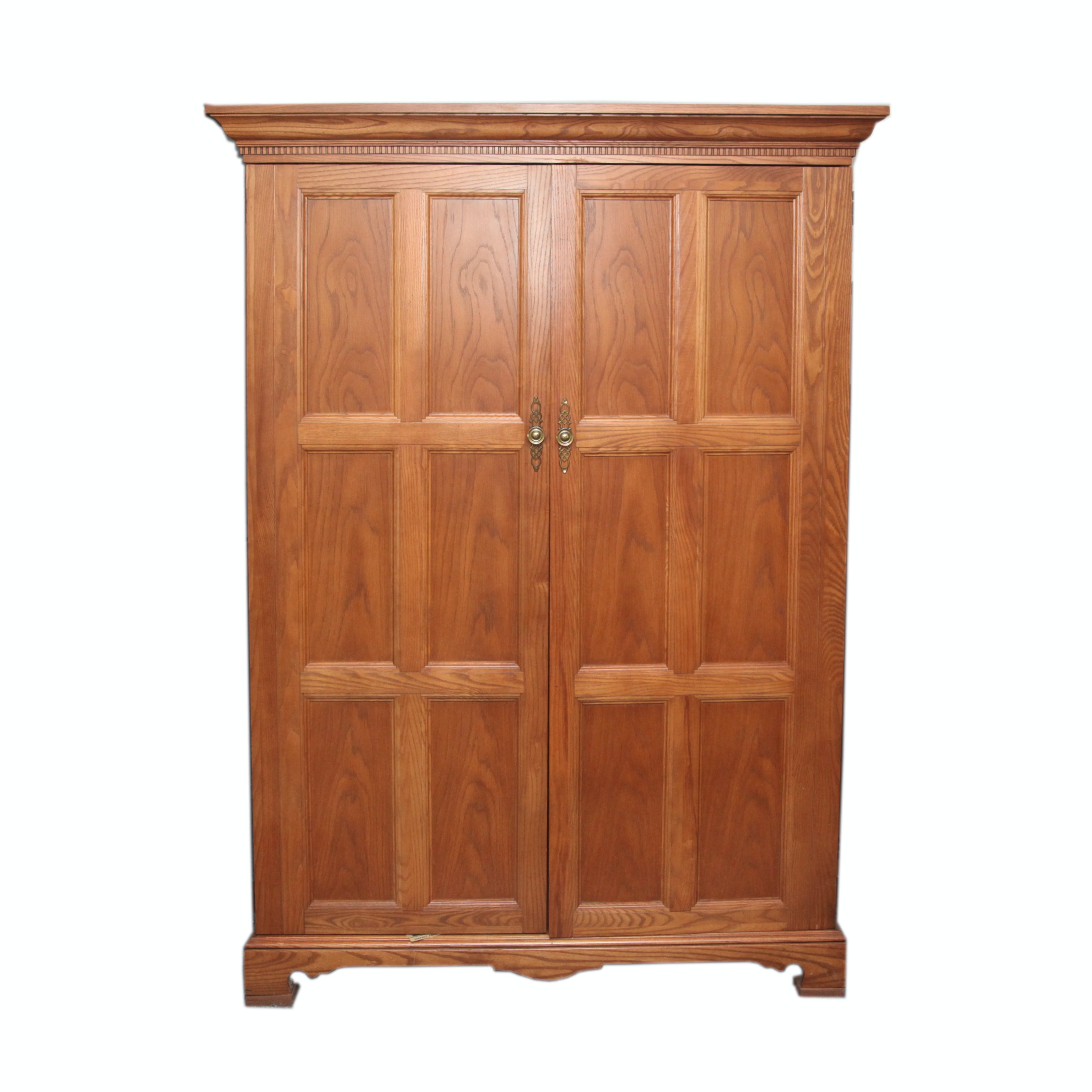 Oak Desk Armoire or Crafting Cabinet