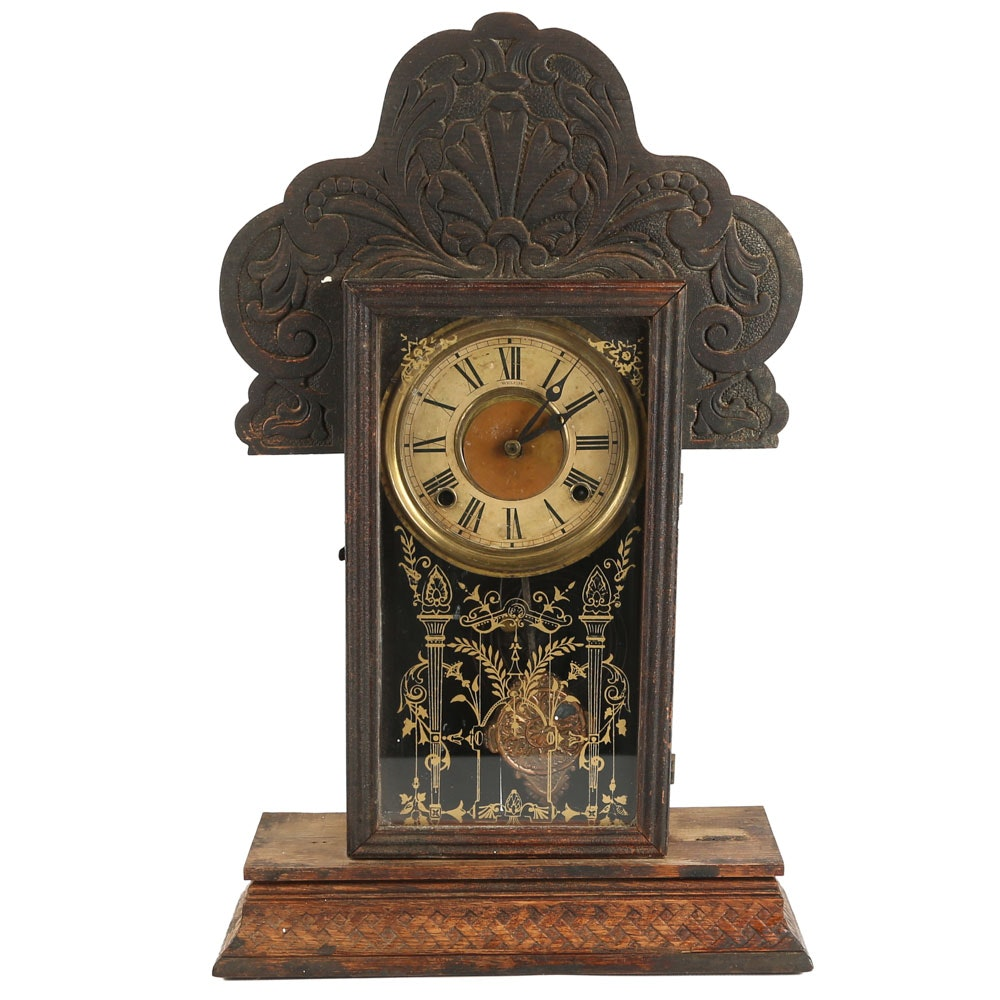 Antique Welch Gingerbread Mantel Clock