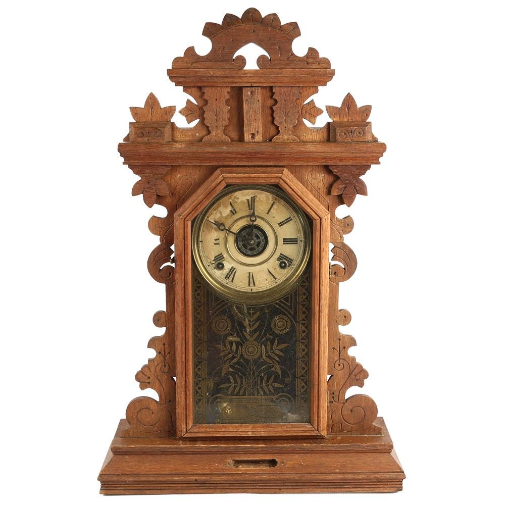 Antique Gingerbread Mantel Clock