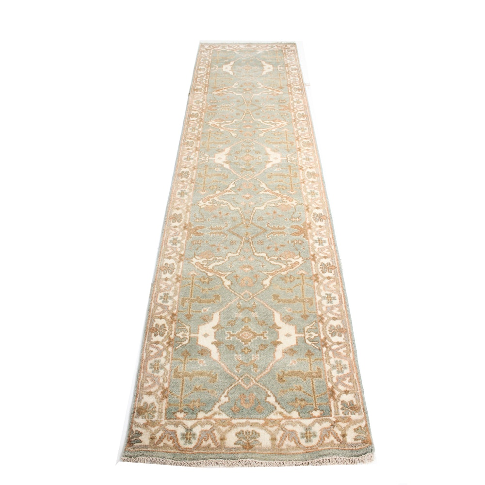 3' x 10' Hand-Knotted Indo-Turkish Oushak Runner