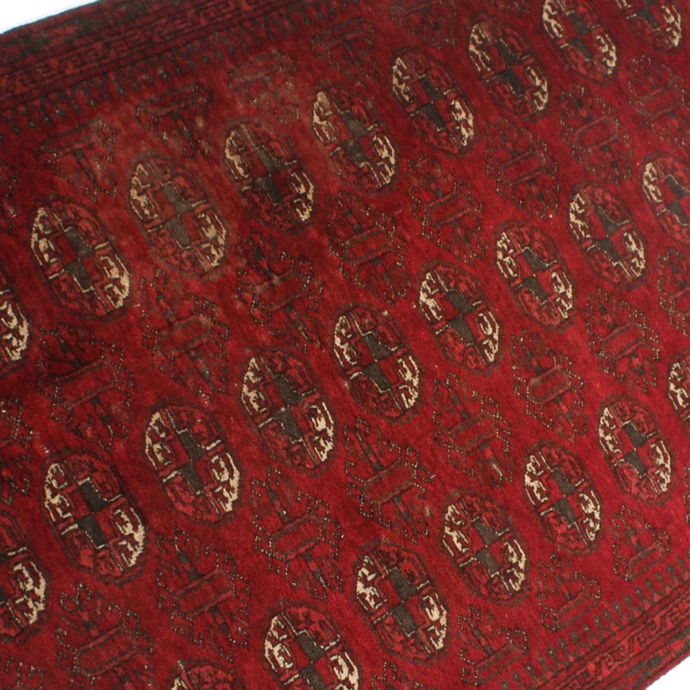 3' x 5' Vintage Hand-Knotted Afghani Turkmen Rug
