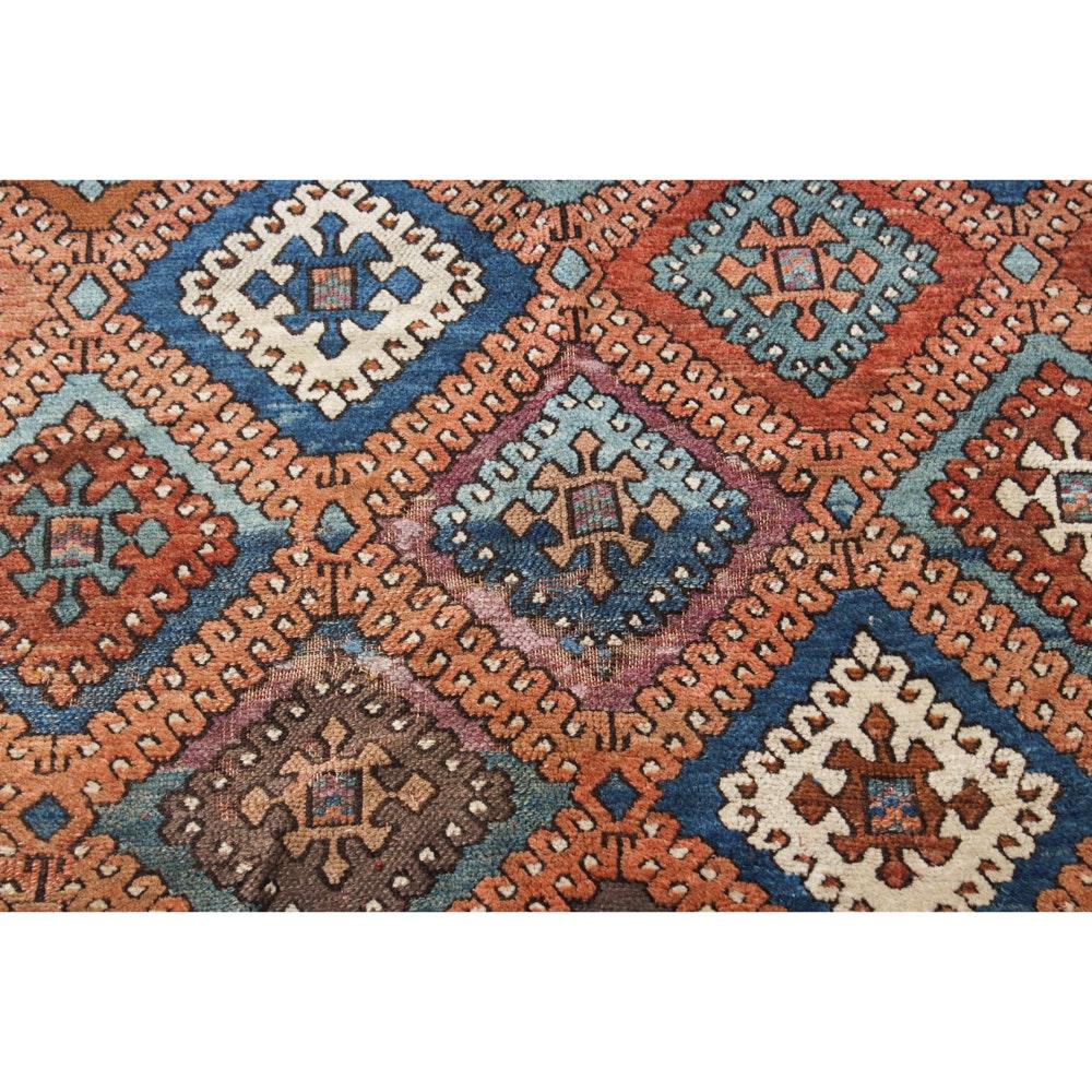 5' x 7' Circa 1890s Hand-Knotted Caucasian Kazak Rug
