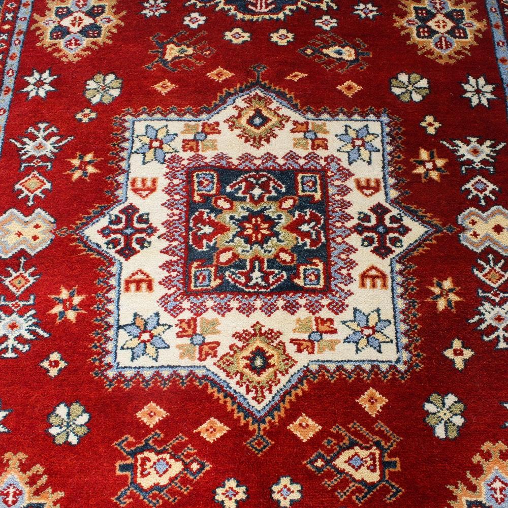 6' x 9' Fine Hand-Knotted Indo-Caucasian Kazak Rug