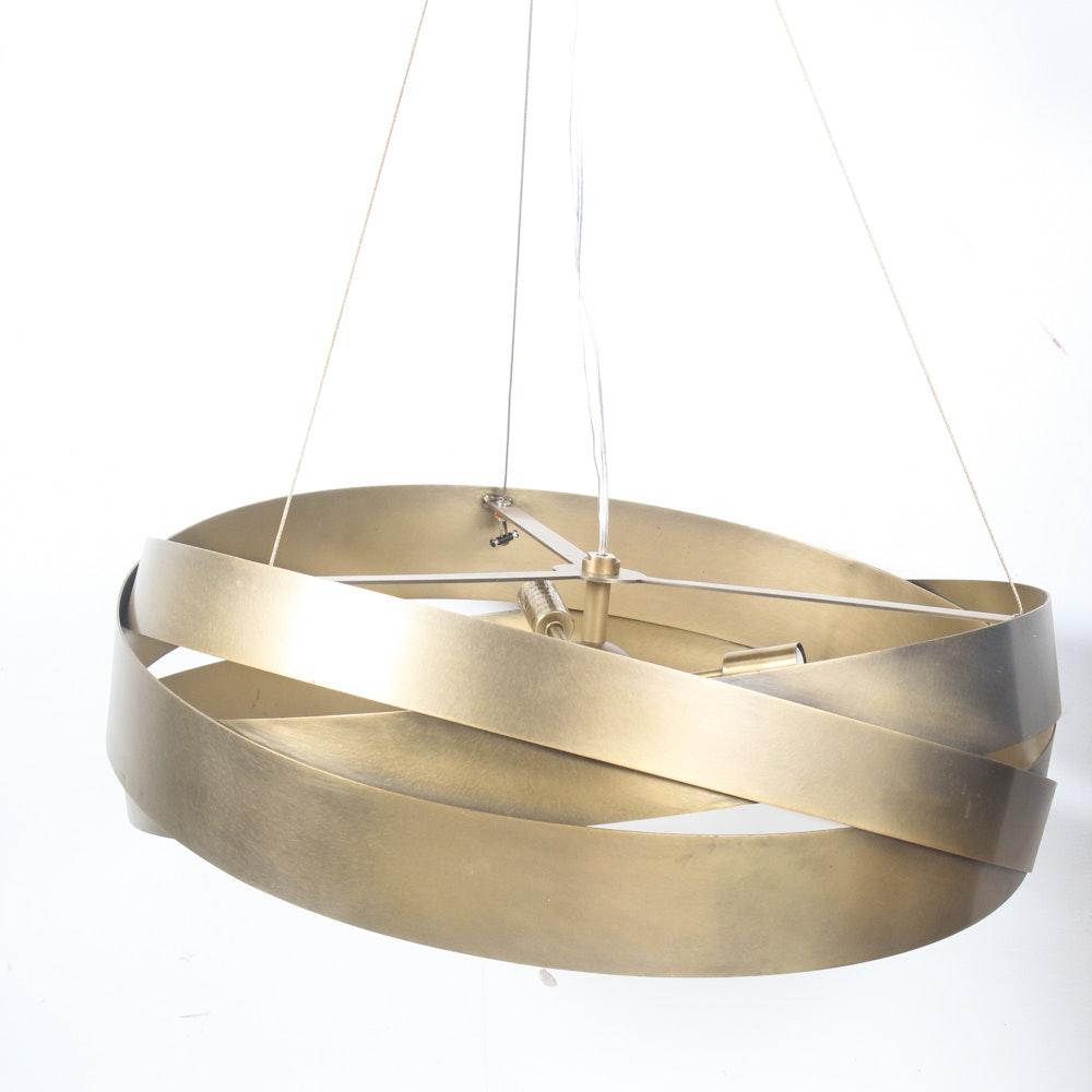 Mid Century Modern-Style Brass Pendant Light