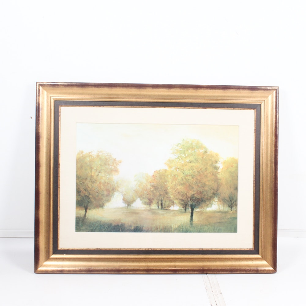 Large-Scale Offset Lithograph Landscape Painting Reproduction