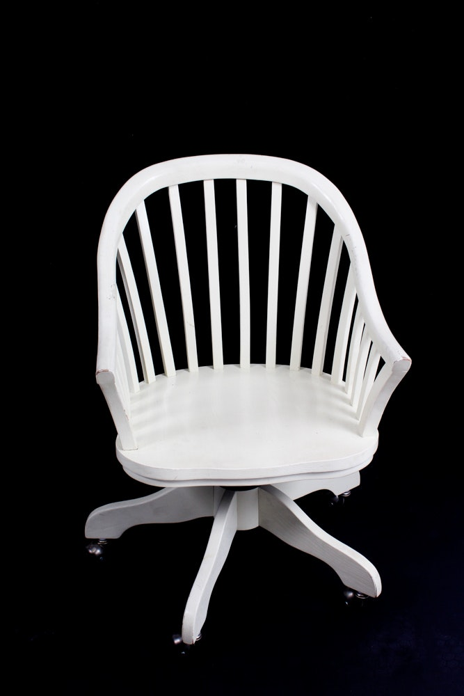 Painted Solid Wood Office Chair