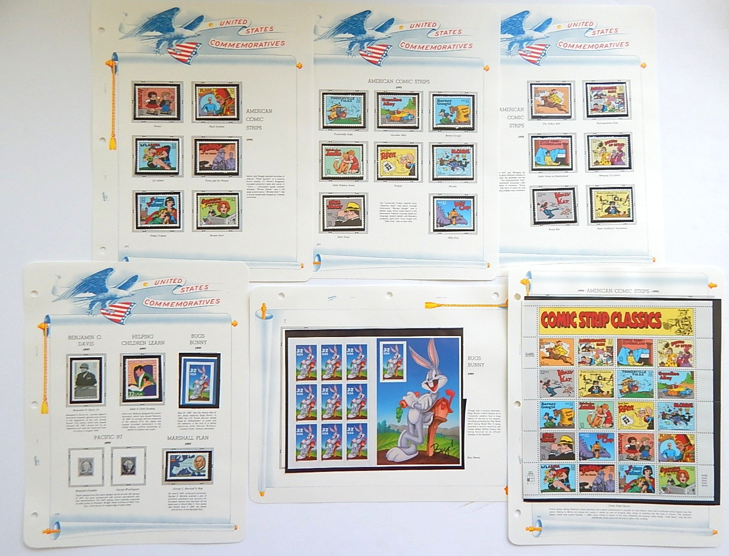United States Commemorative Stamps with Comic Strips, Bugs Bunny, More