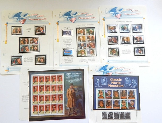 United States Commemorative Stamps with Movie Monsters, Opera, Composers