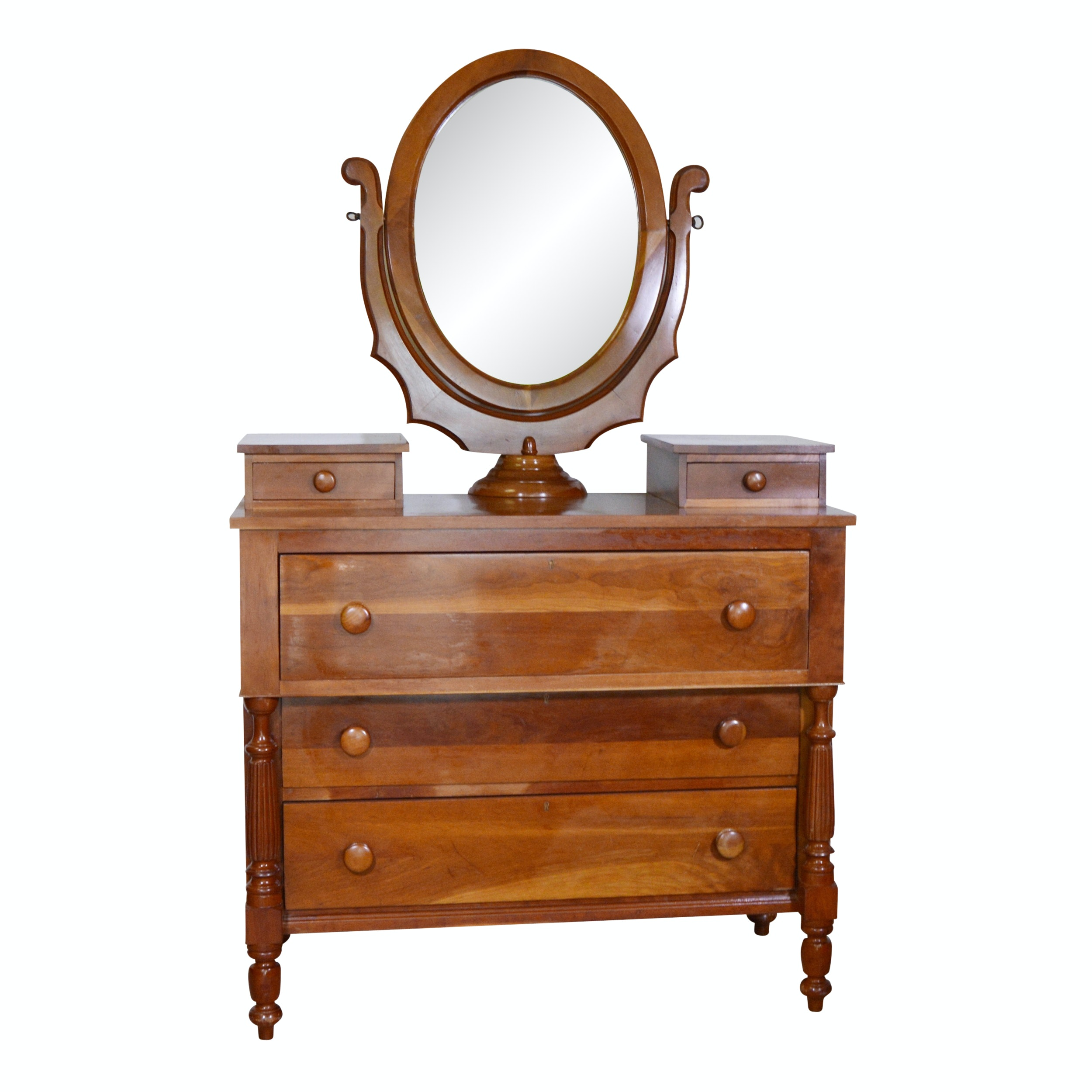 Cherry Reproduction Dresser and Mirror