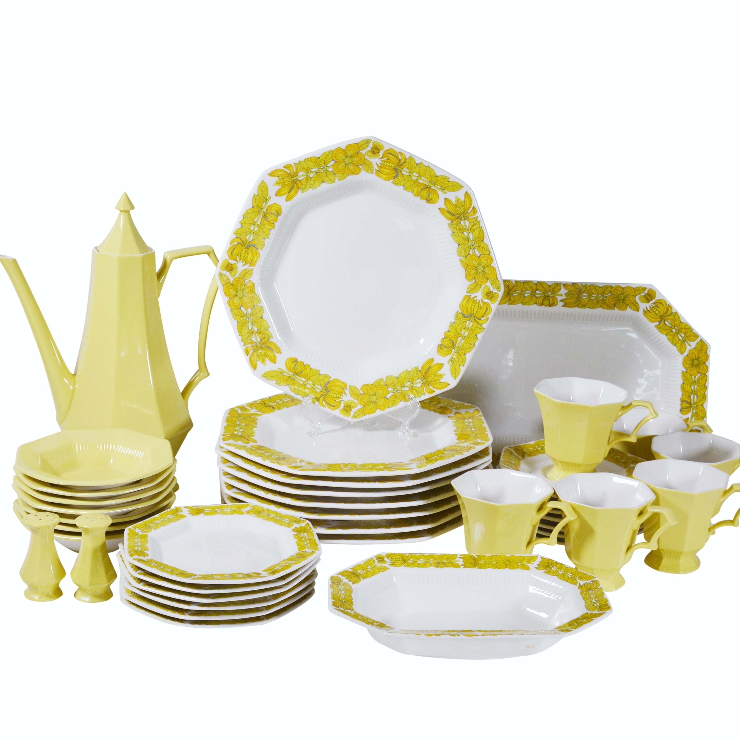 Independence Yellow and Floral Dinnerware and Serveware