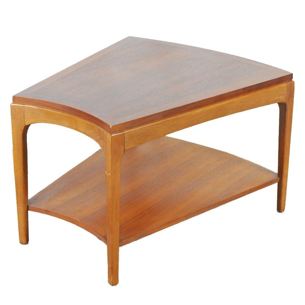 Mid Century Modern Walnut Wedge Table by Lane