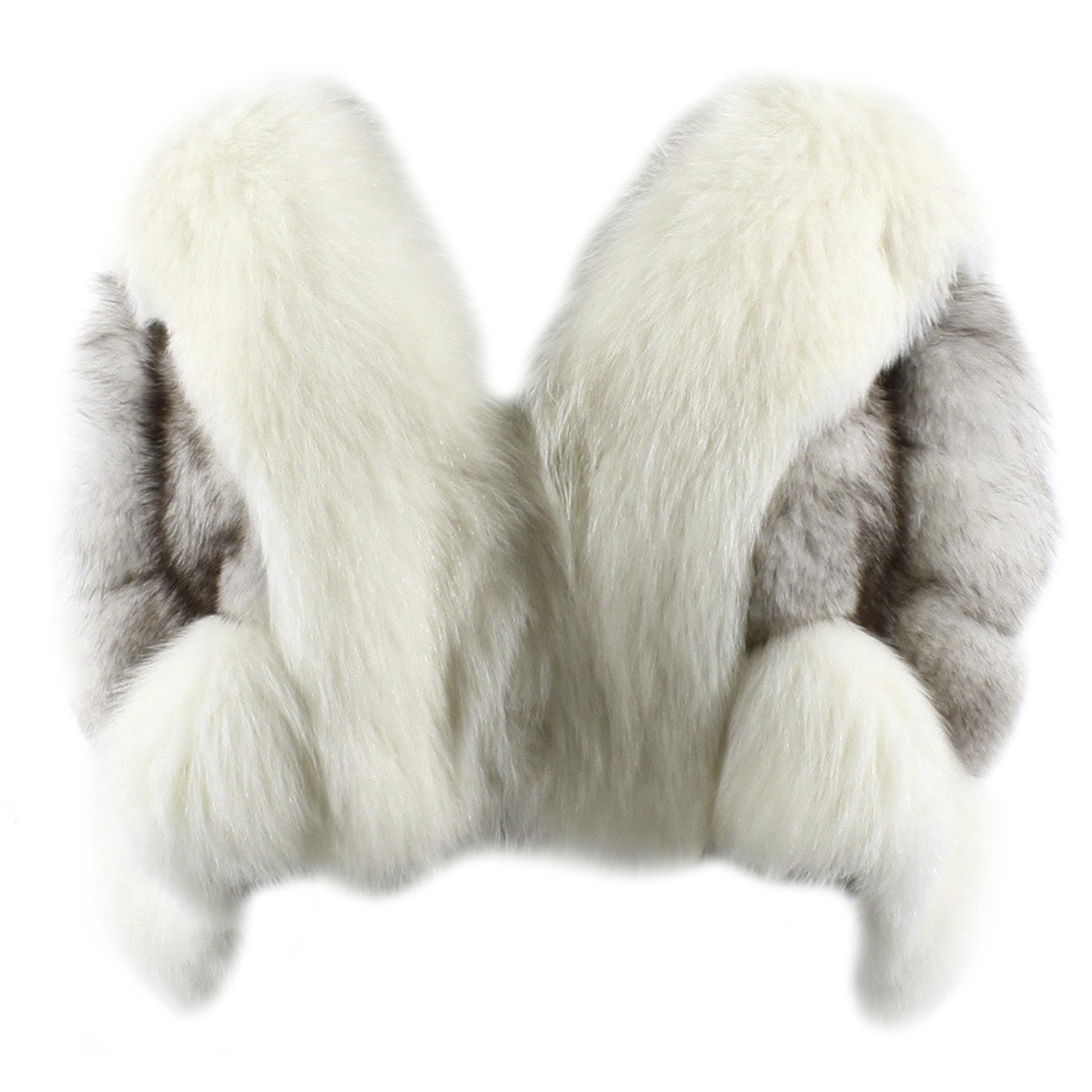 Mixed Blue Fox Fur Wedding Stole