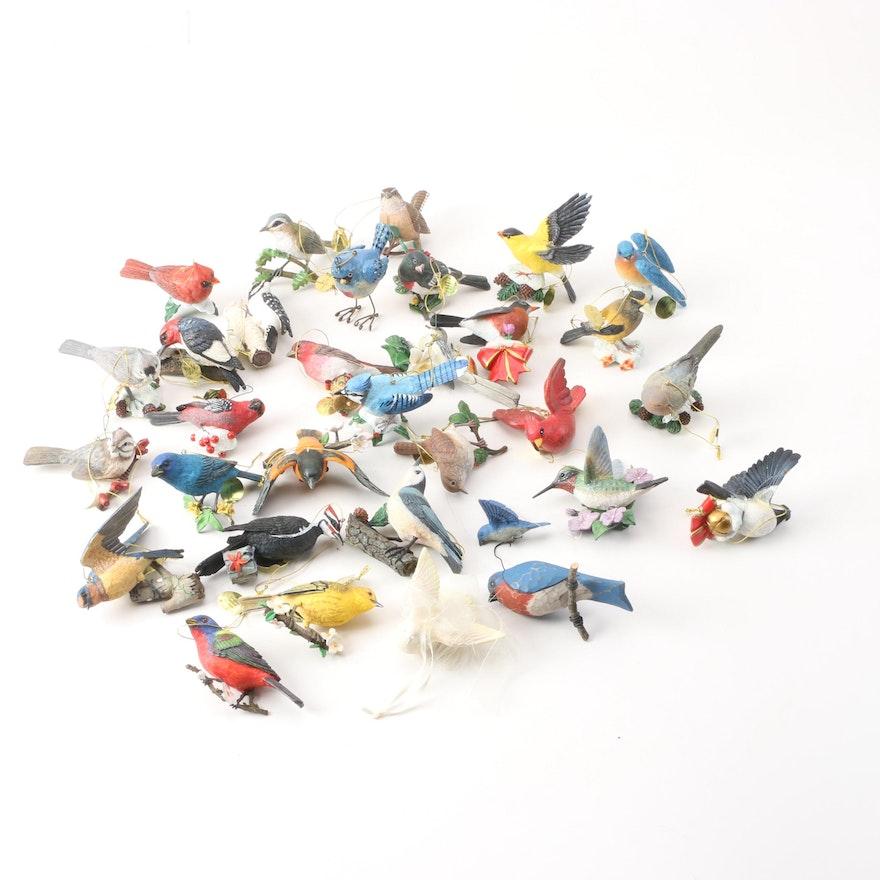 bird holiday ornaments including the danbury mint - Bird Christmas Ornaments