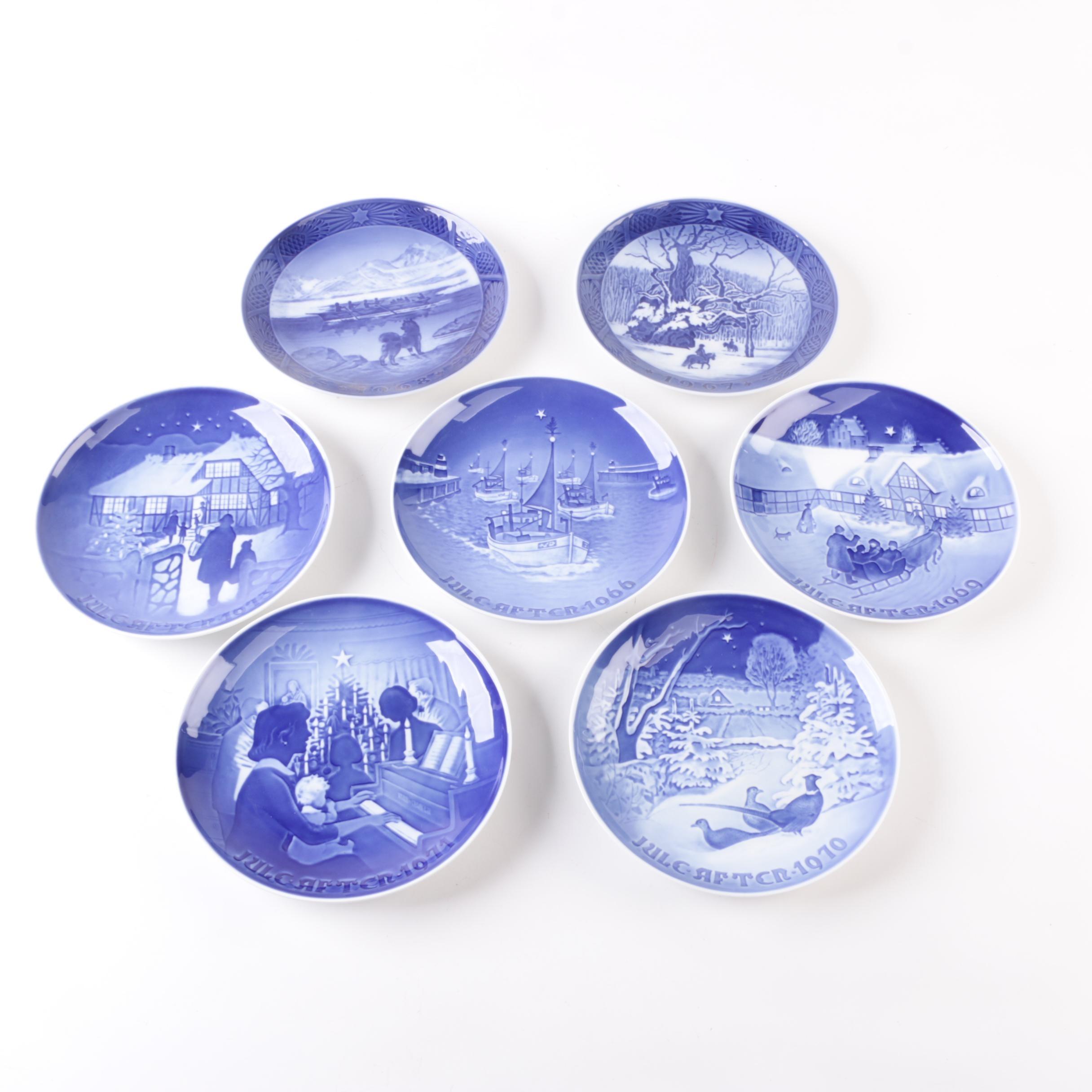 Vintage Bing & Grøndahl Porcelain Collector's Plates ca. 1966-73