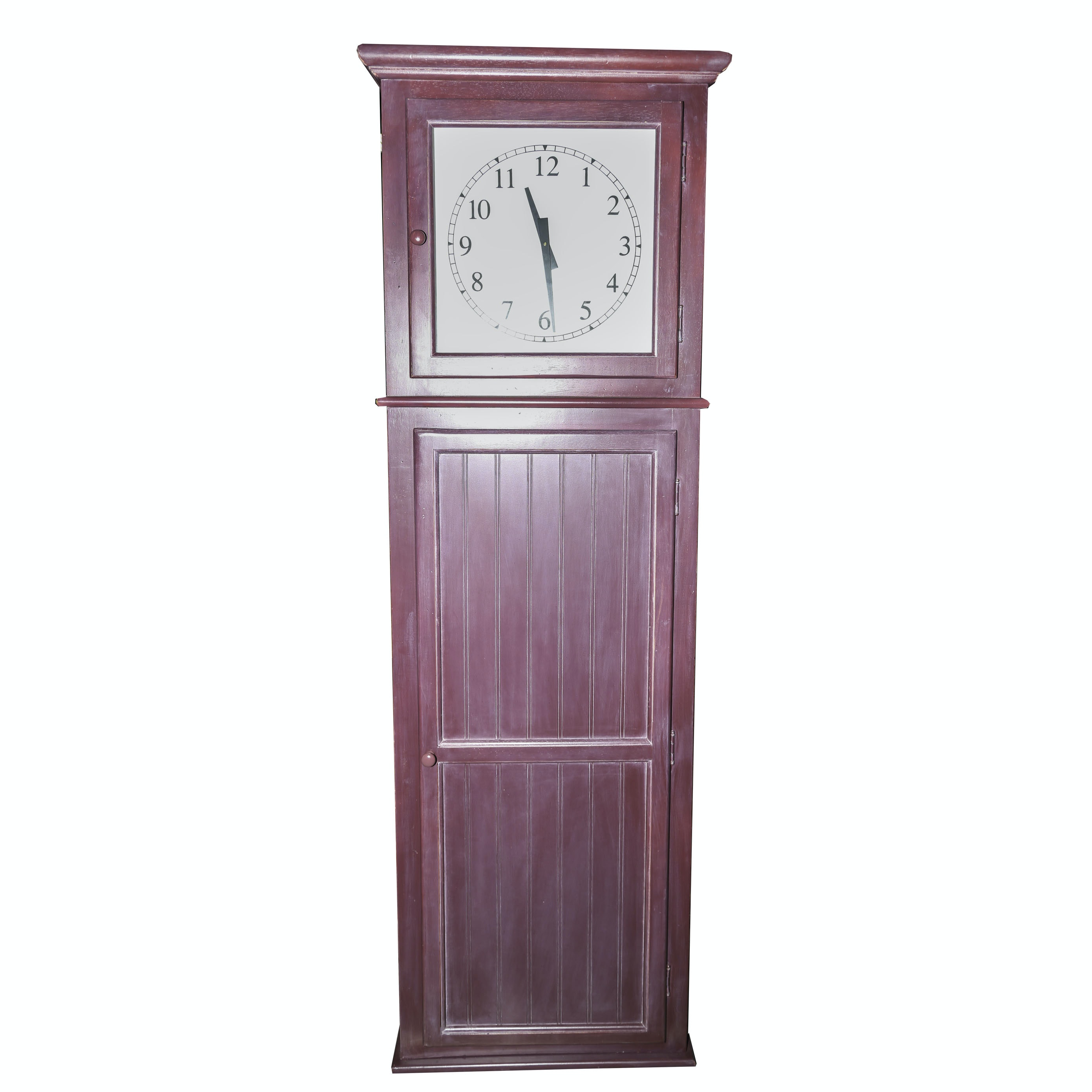 Primitive Style Grandfather Clock with Concealed Bar