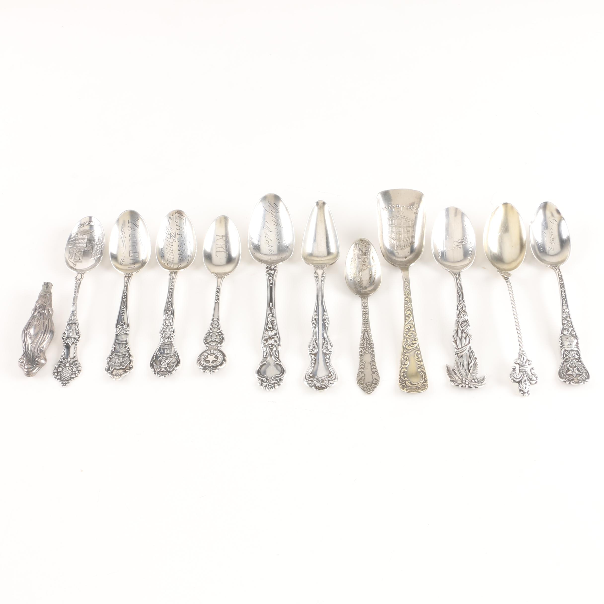 Sterling Silver and Silver Plate Collectible Spoons