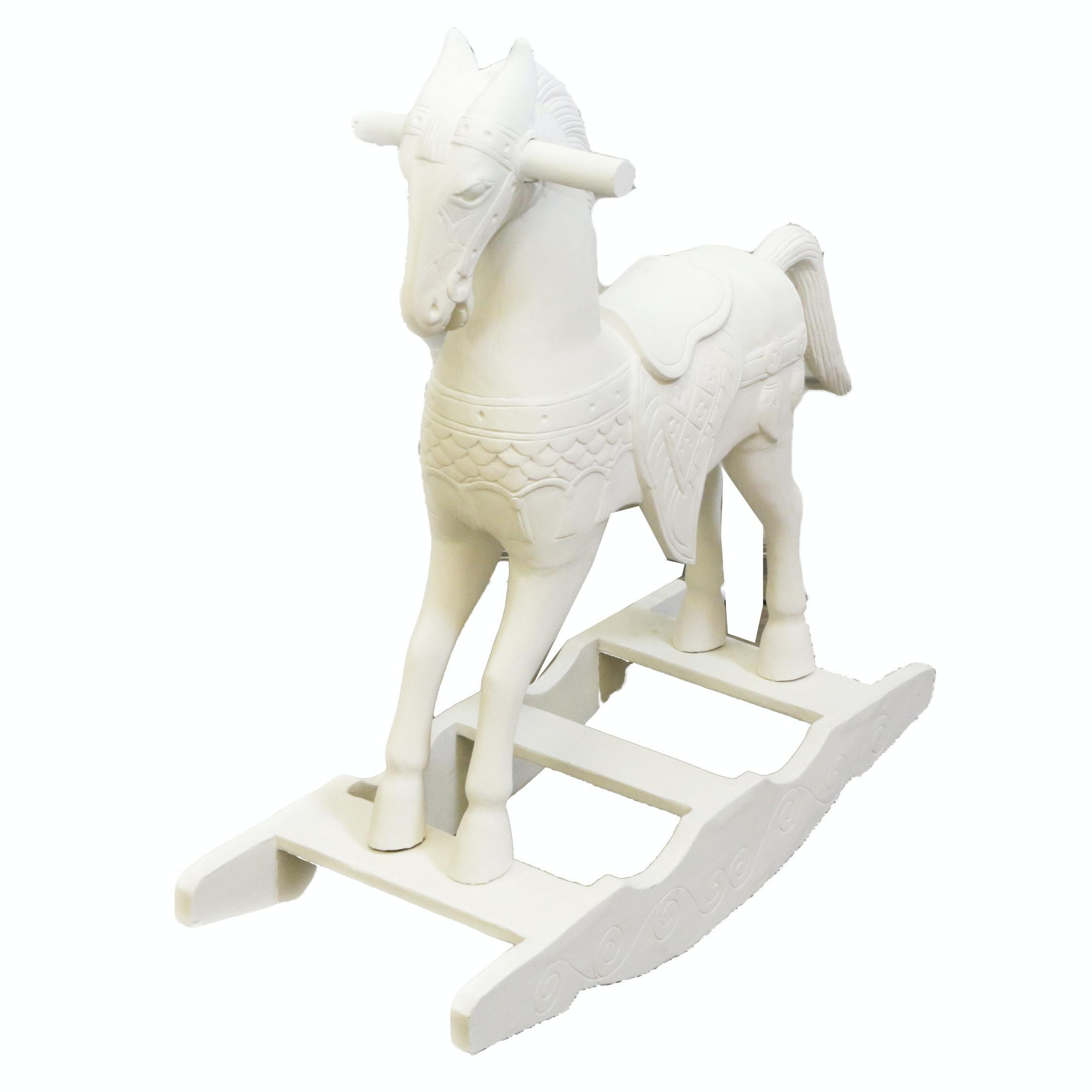 White Finished Rocking Horse