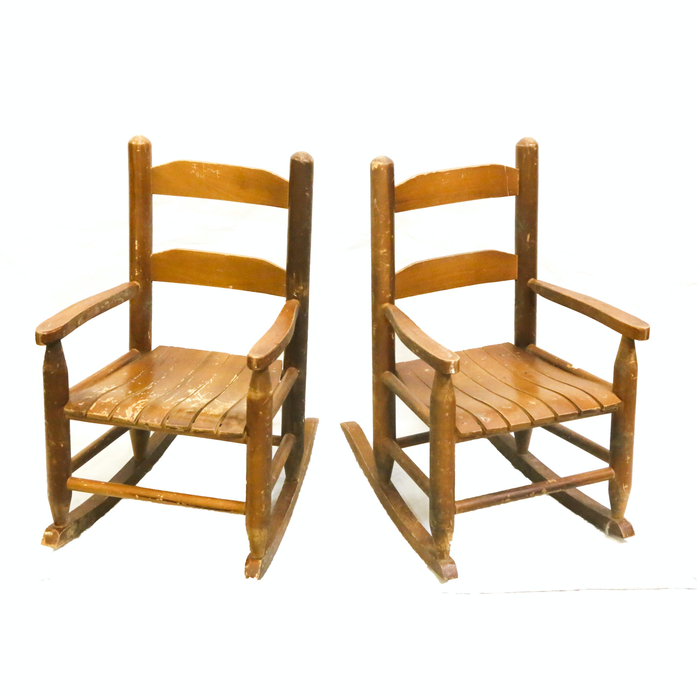 Vintage Rustic Style Children's Rocking Chairs