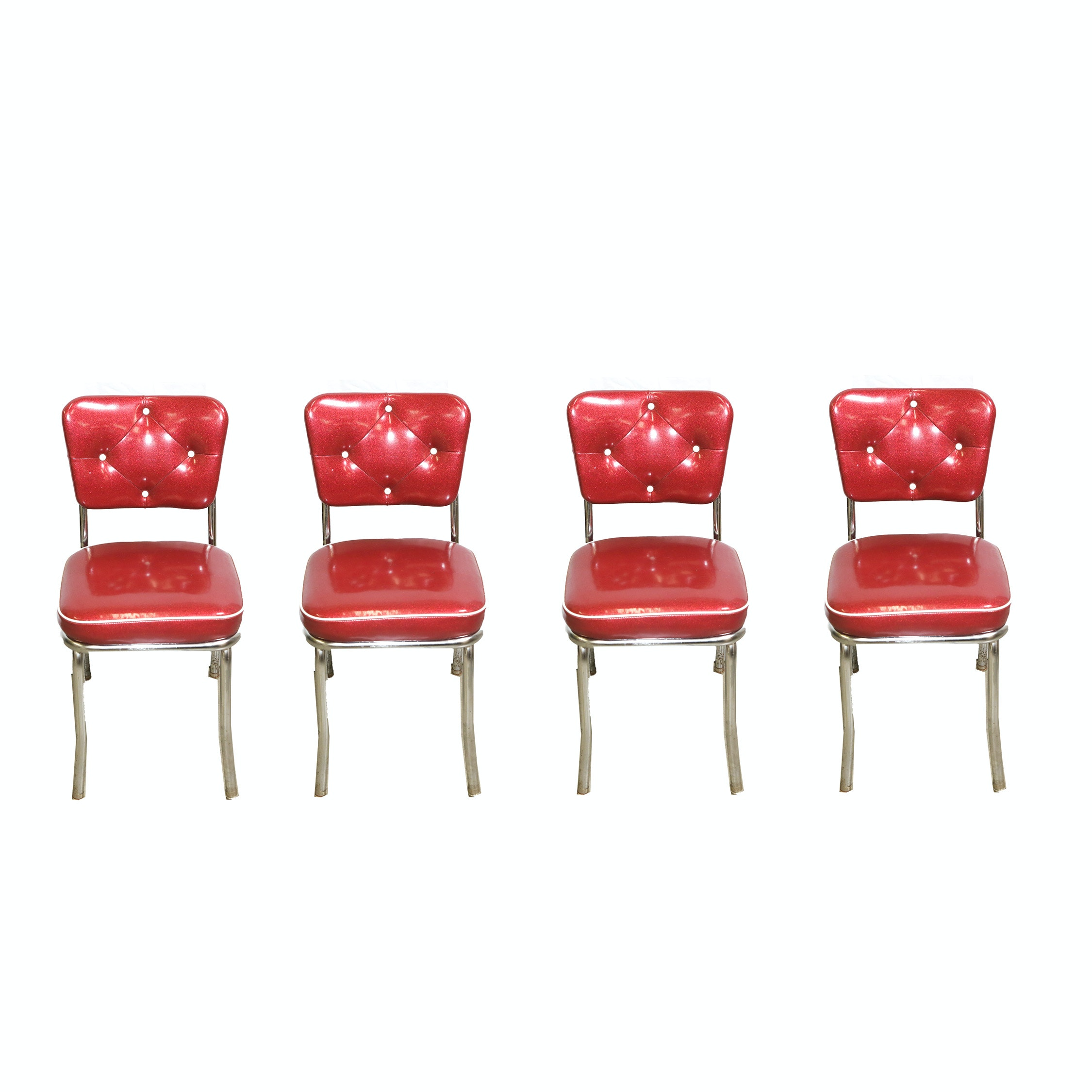 Red and White Diner Style Chairs