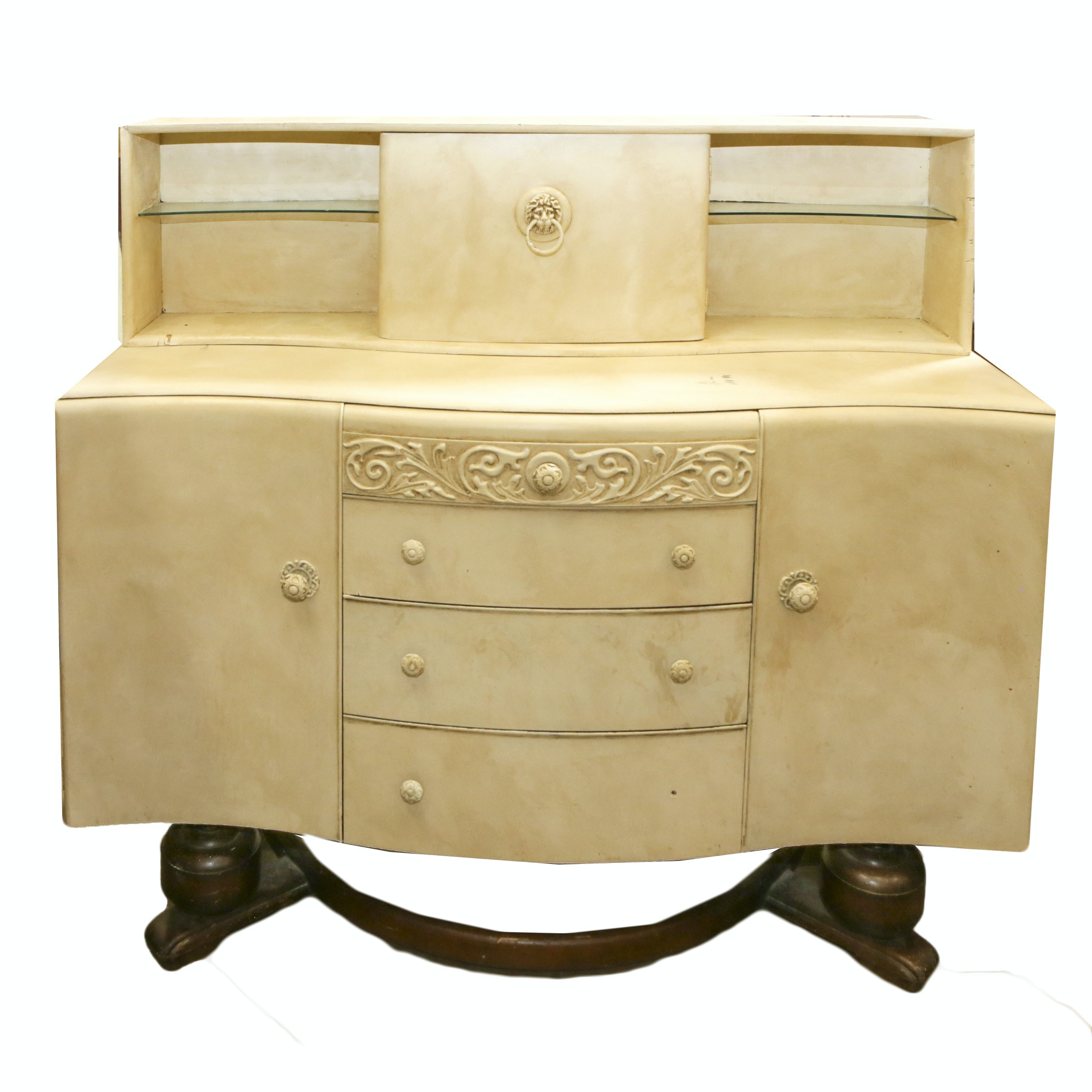Blonde Veneered Vintage Sideboard