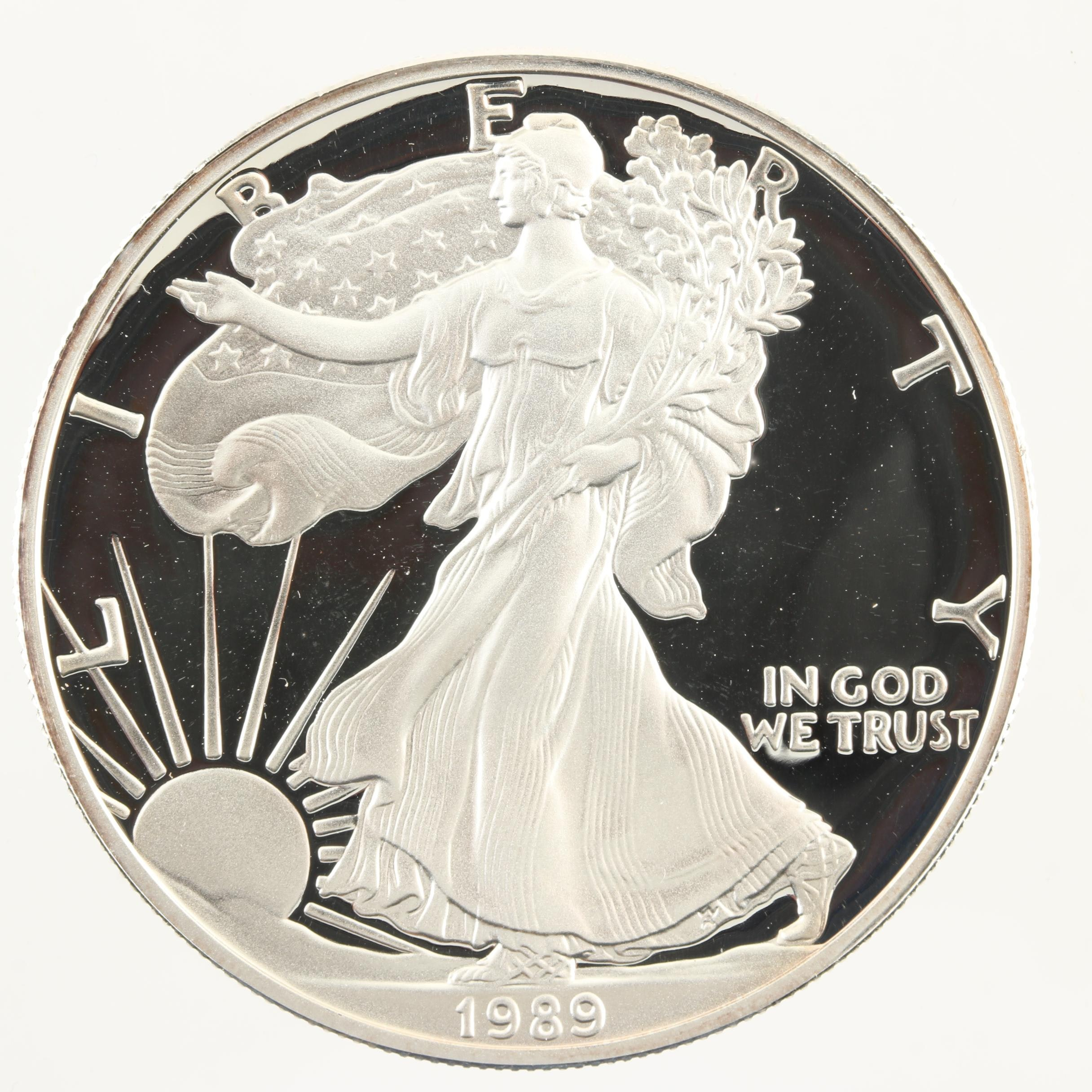 1989-S Walking Liberty Silver Eagle Proof Bullion Coin