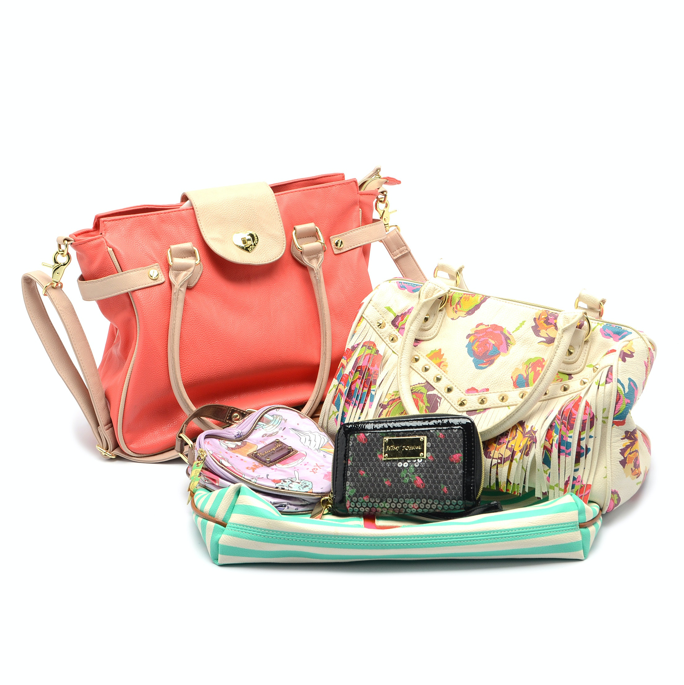 Collection of Betsey Johnson Handbags and Wallets