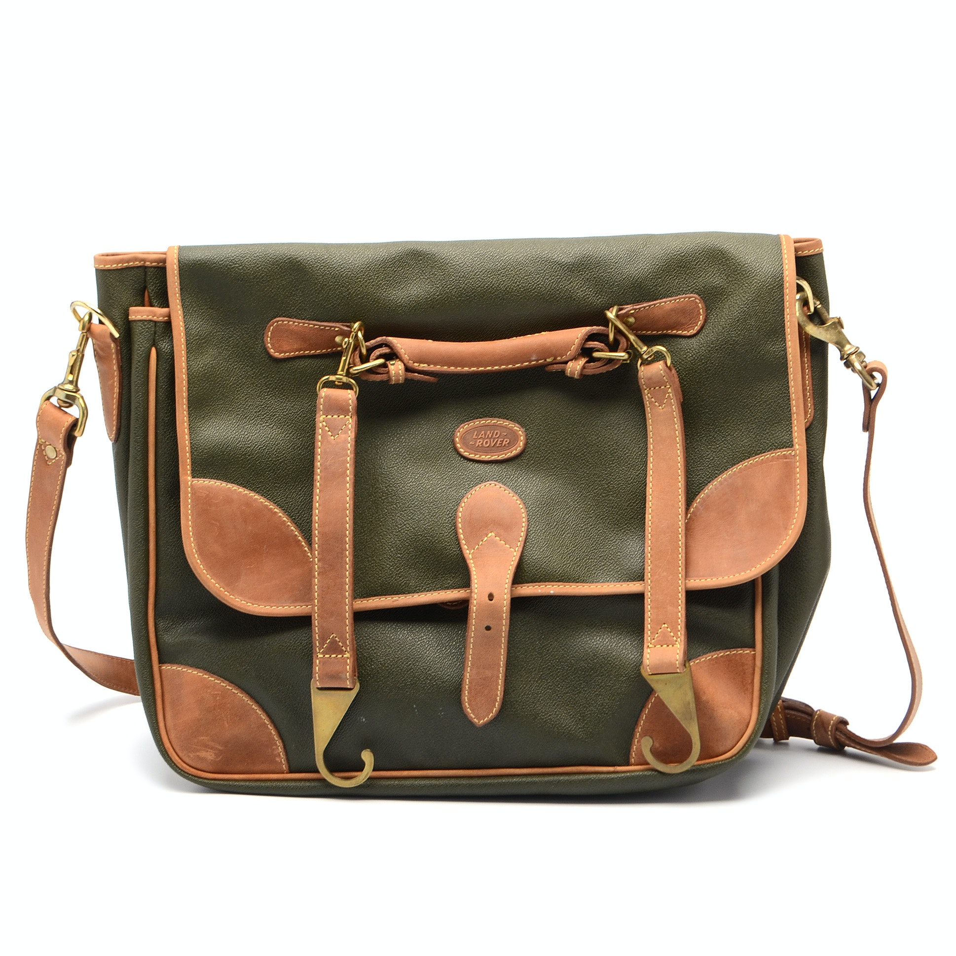 Leather and Canvas Satchel by Mulholland Brothers