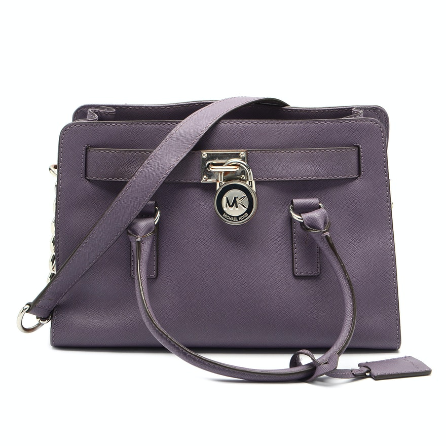 f31147a9852037 Michael Kors Hamilton Saffiano Leather Handbag : EBTH