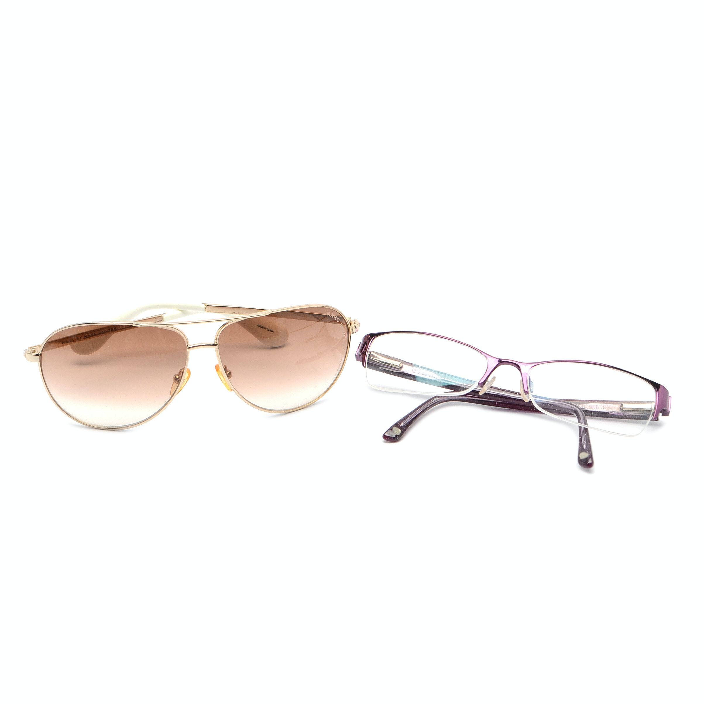 Glasses by Marc Jacobs and Bebe