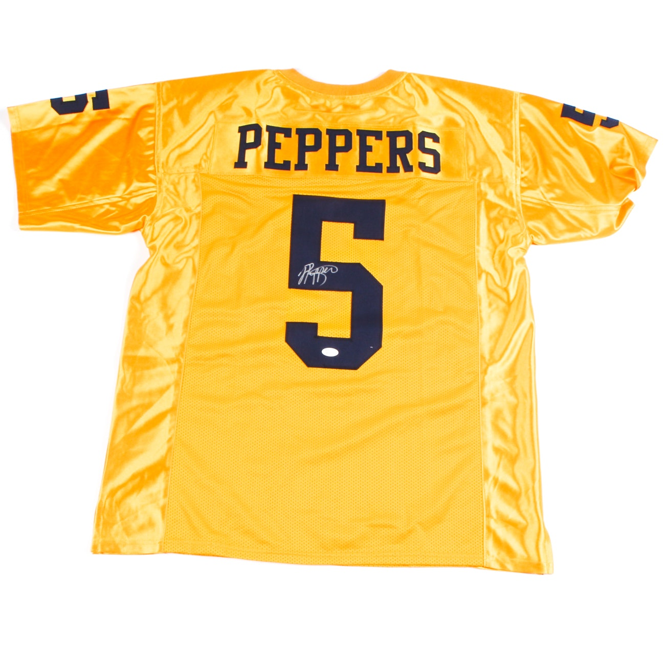 Jabrill Peppers Signed Yellow Michigan Jersey  COA