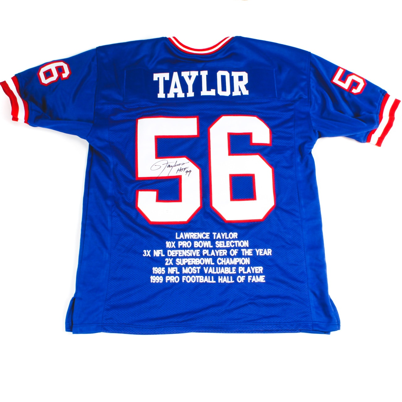 Lawrence Taylor Signed Giants Jersey  COA