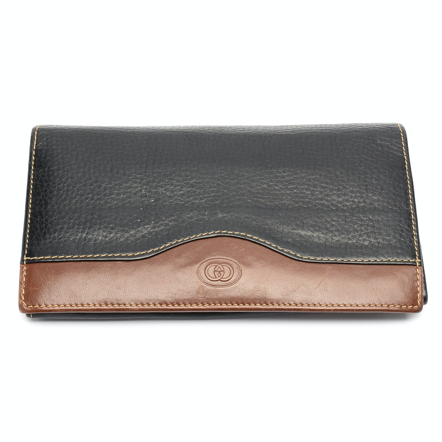 38ac3c45f85a Vintage Gucci Leather Wallet : EBTH