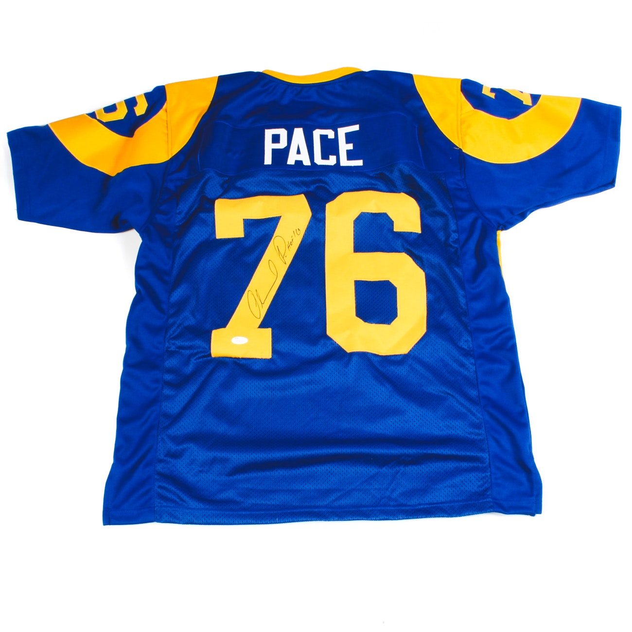 Orlando Pace Signed Rams Jersey  COA