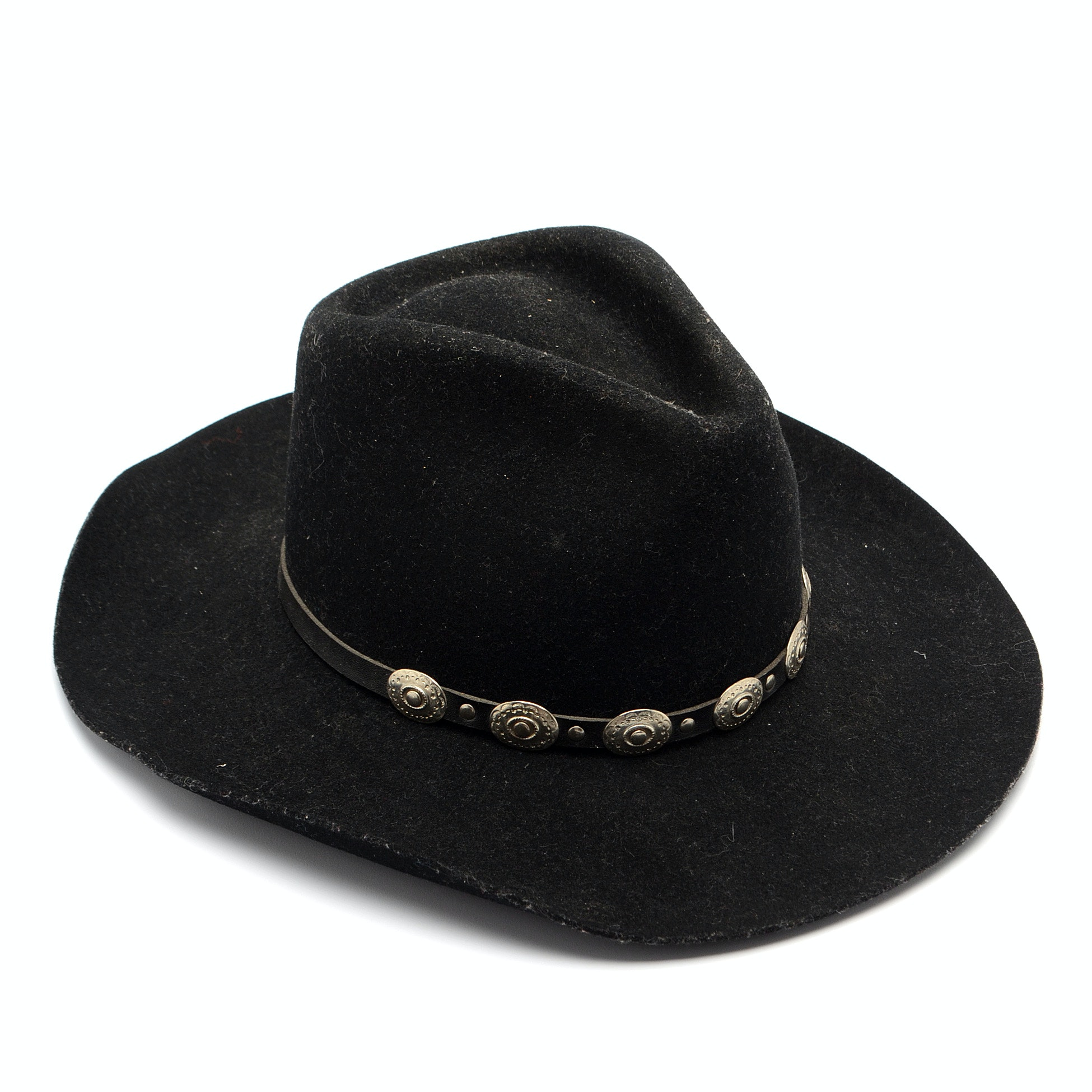 Vintage Stetson Stallion Black Wool Felted Cowboy Hat