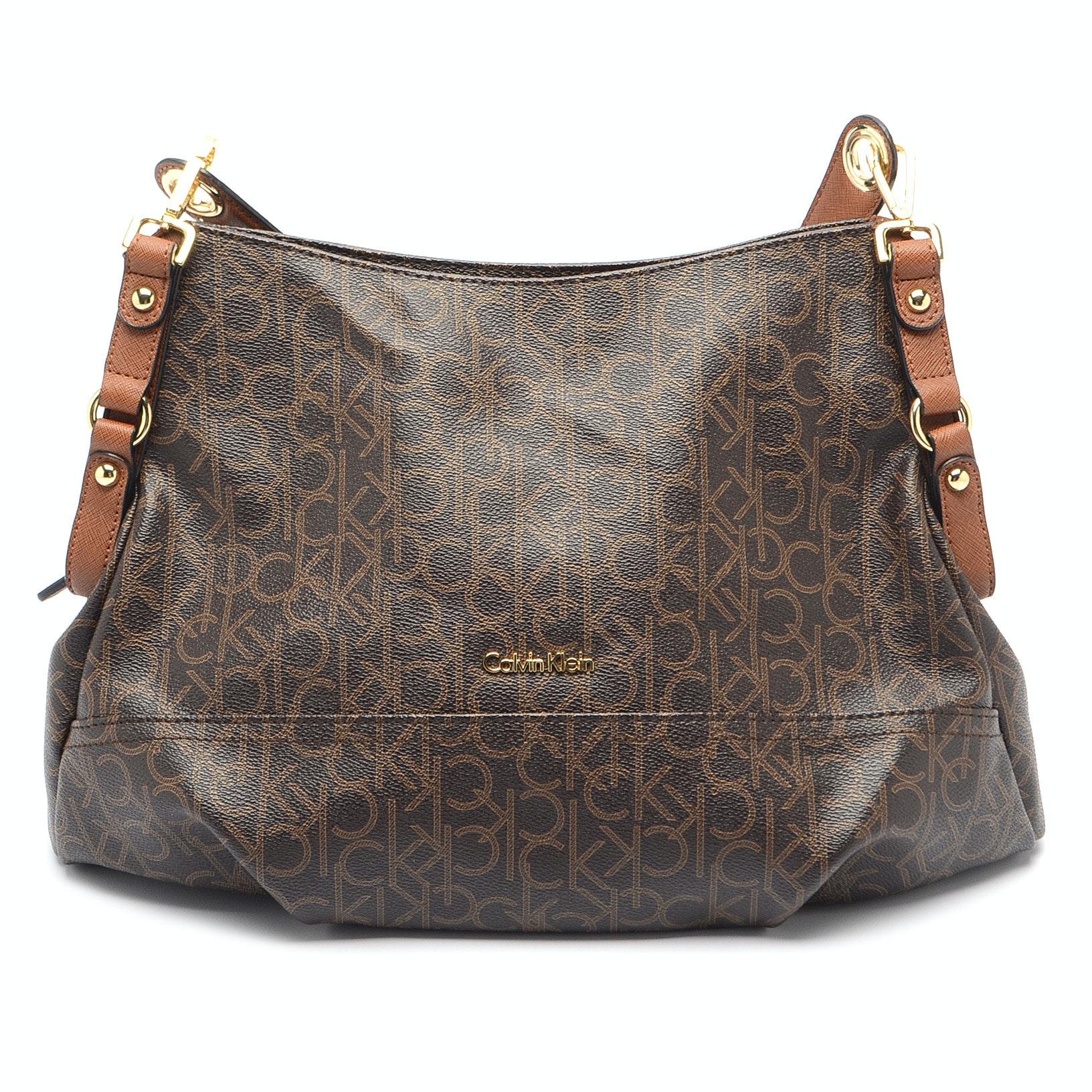 Calvin Klein Coated Canvas Handbag