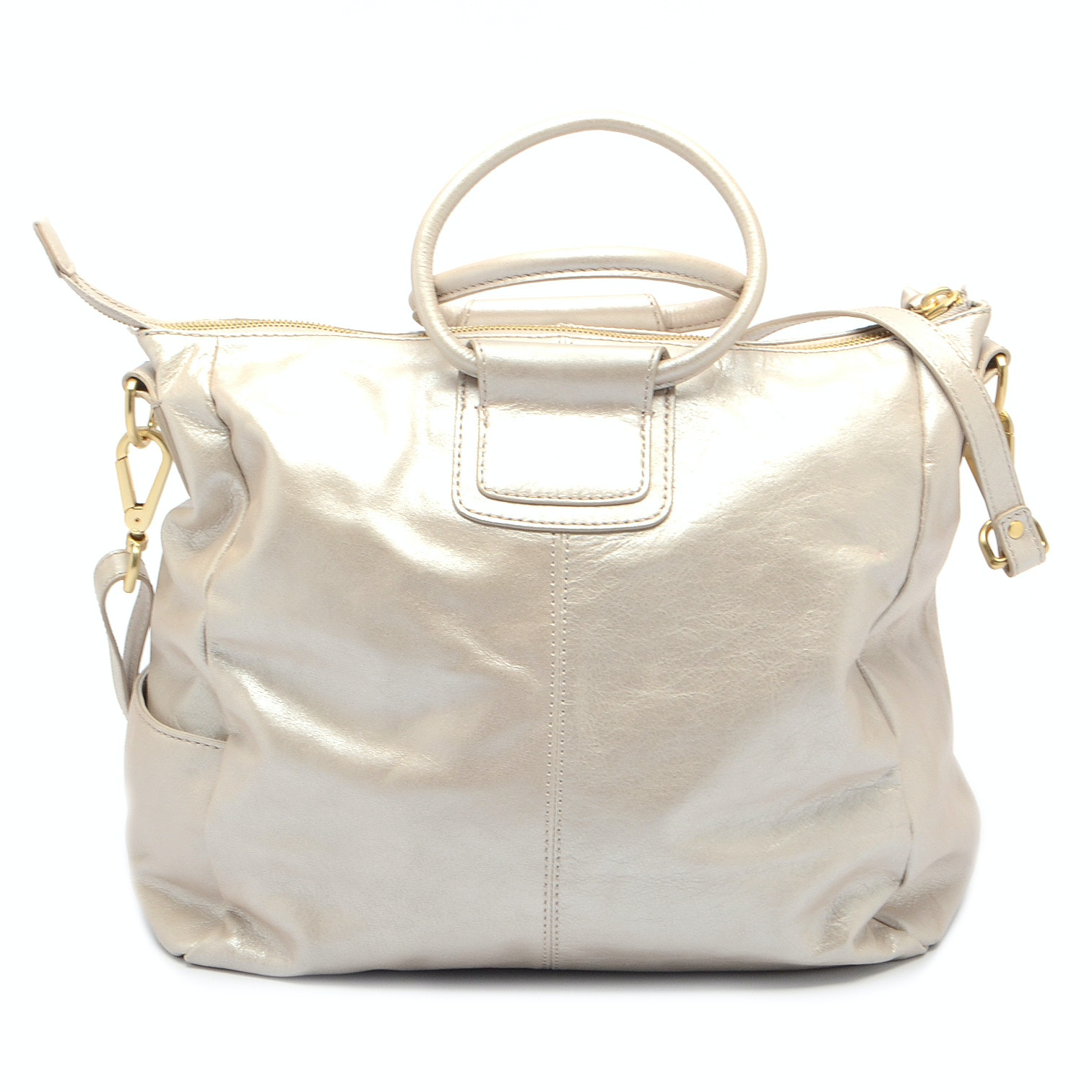 Metallic Leather Handbag by Hobo