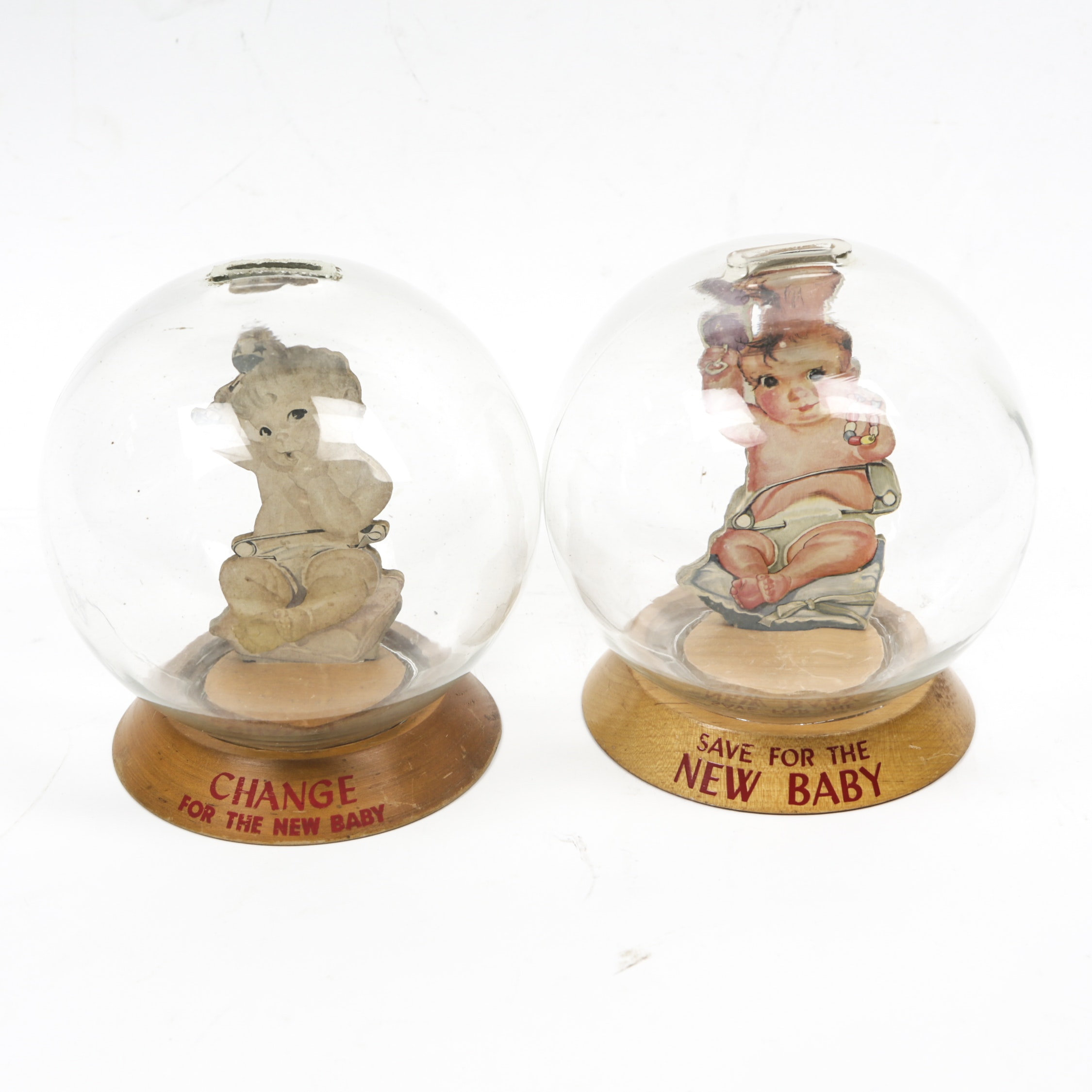Vintage New Baby Glass Bubble Banks