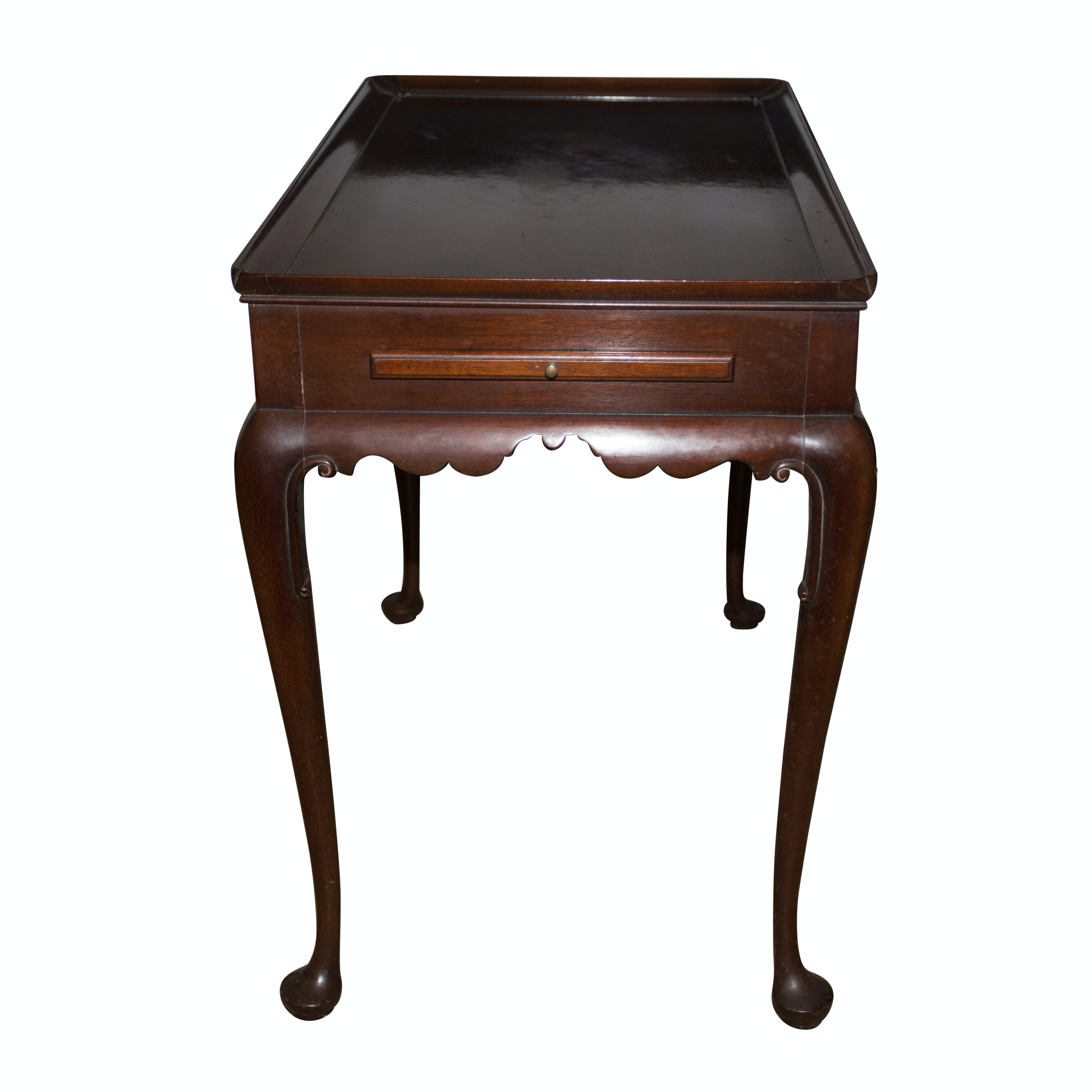 Charmant Vintage Queen Anne Style Side Table ...