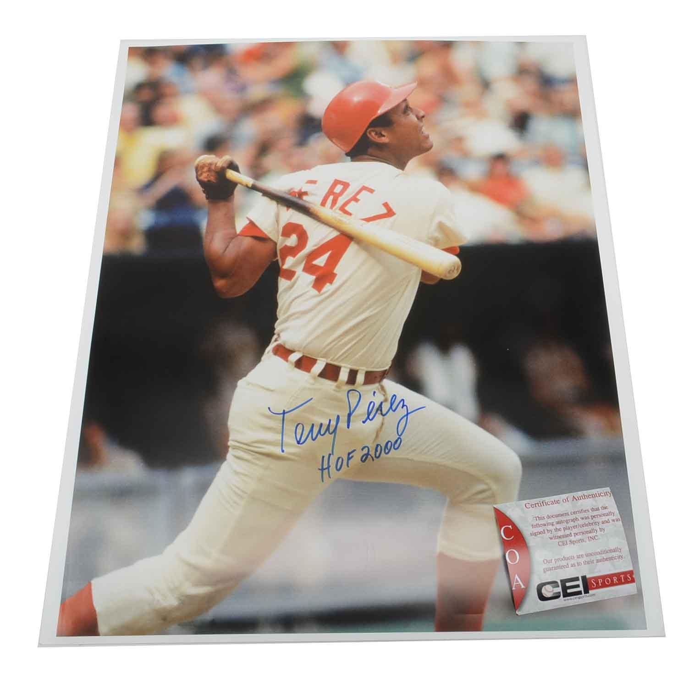 Tony Perez Signed and Inscribed Photo  COA