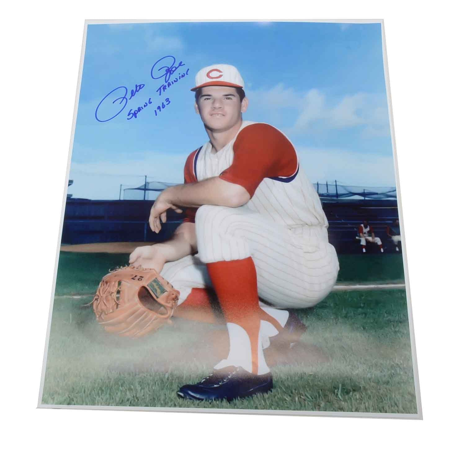 Pete Rose Signed and Inscribed Photo  COA