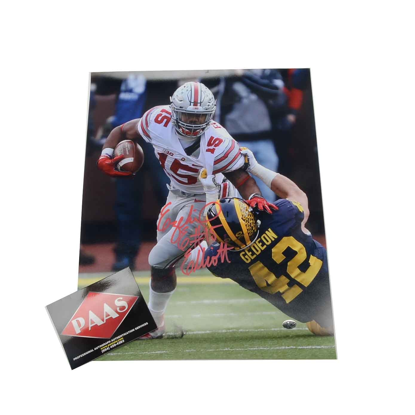 Ezekiel Elliott Signed Ohio State Photo  COA