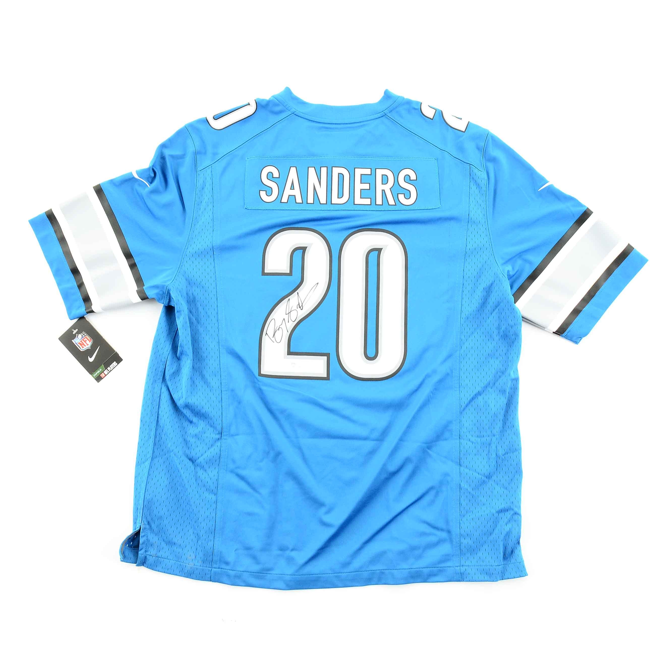 Barry Sanders Signed Lions Jersey  COA
