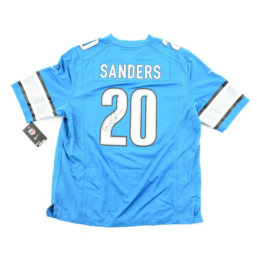 pretty nice eb2f1 591b4 Barry Sanders Signed Lions Jersey COA