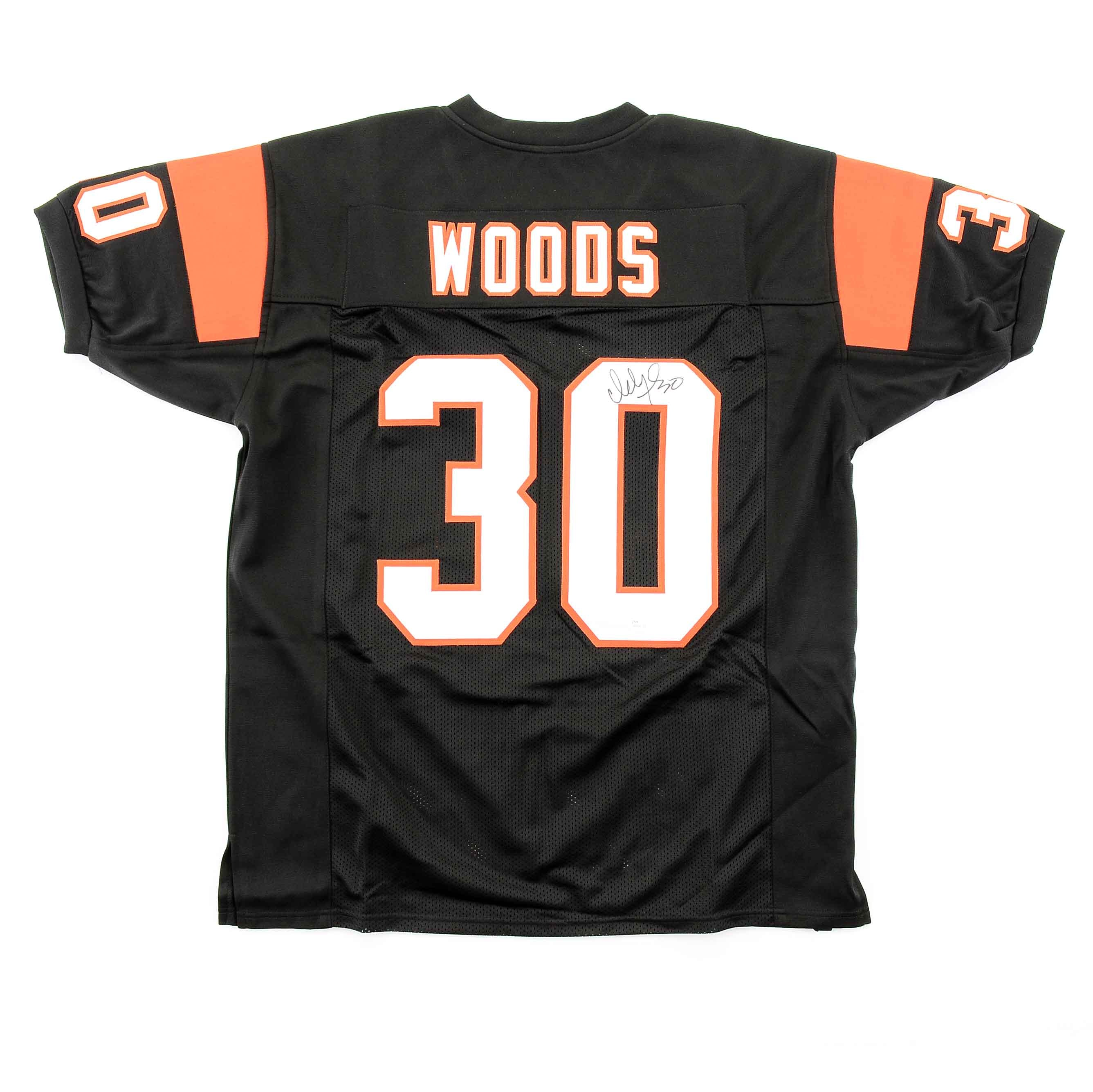 Icky Woods Signed Bengals Jersey  COA
