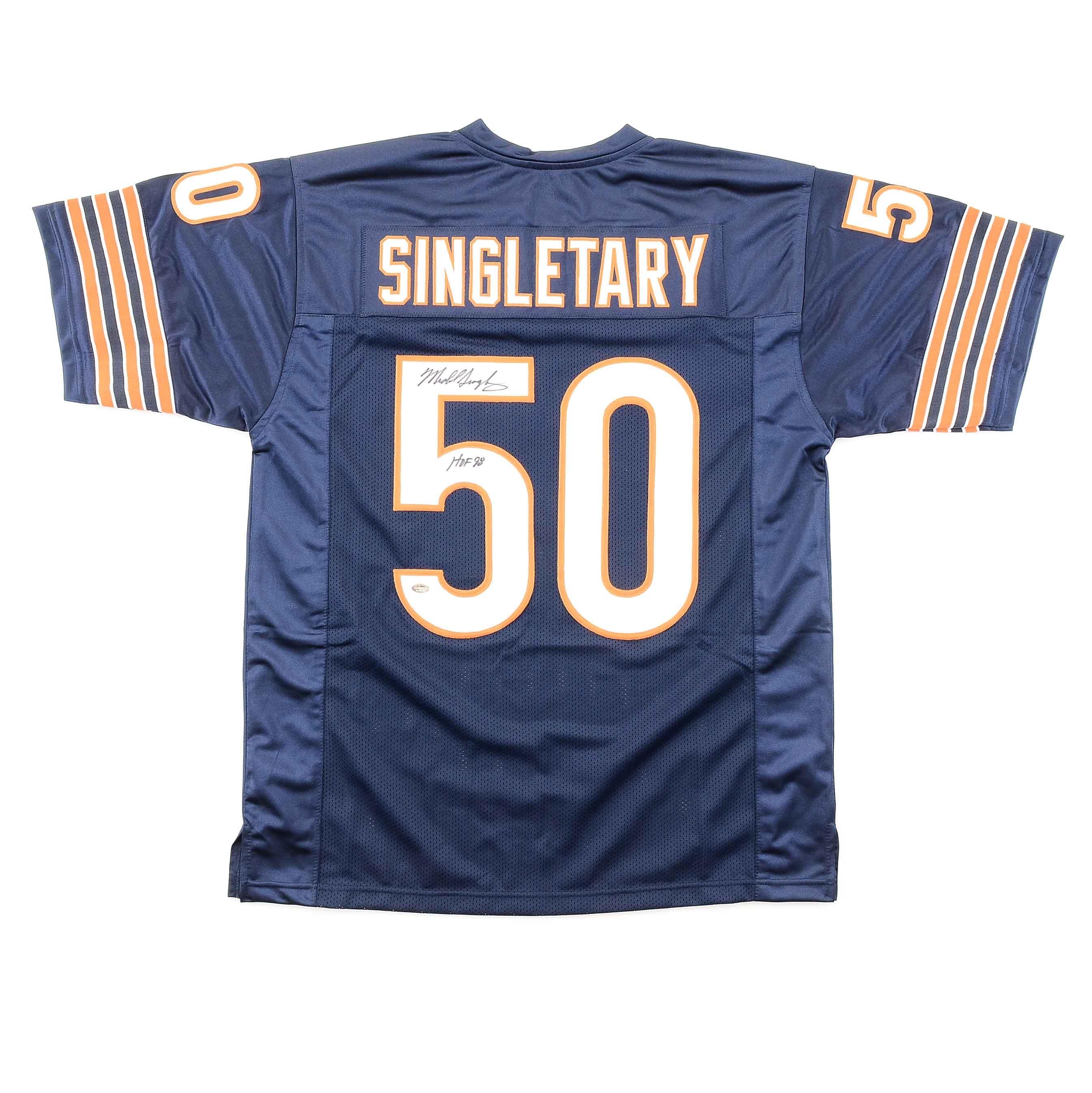 Mike Singletary Signed Bears Jersey  COA