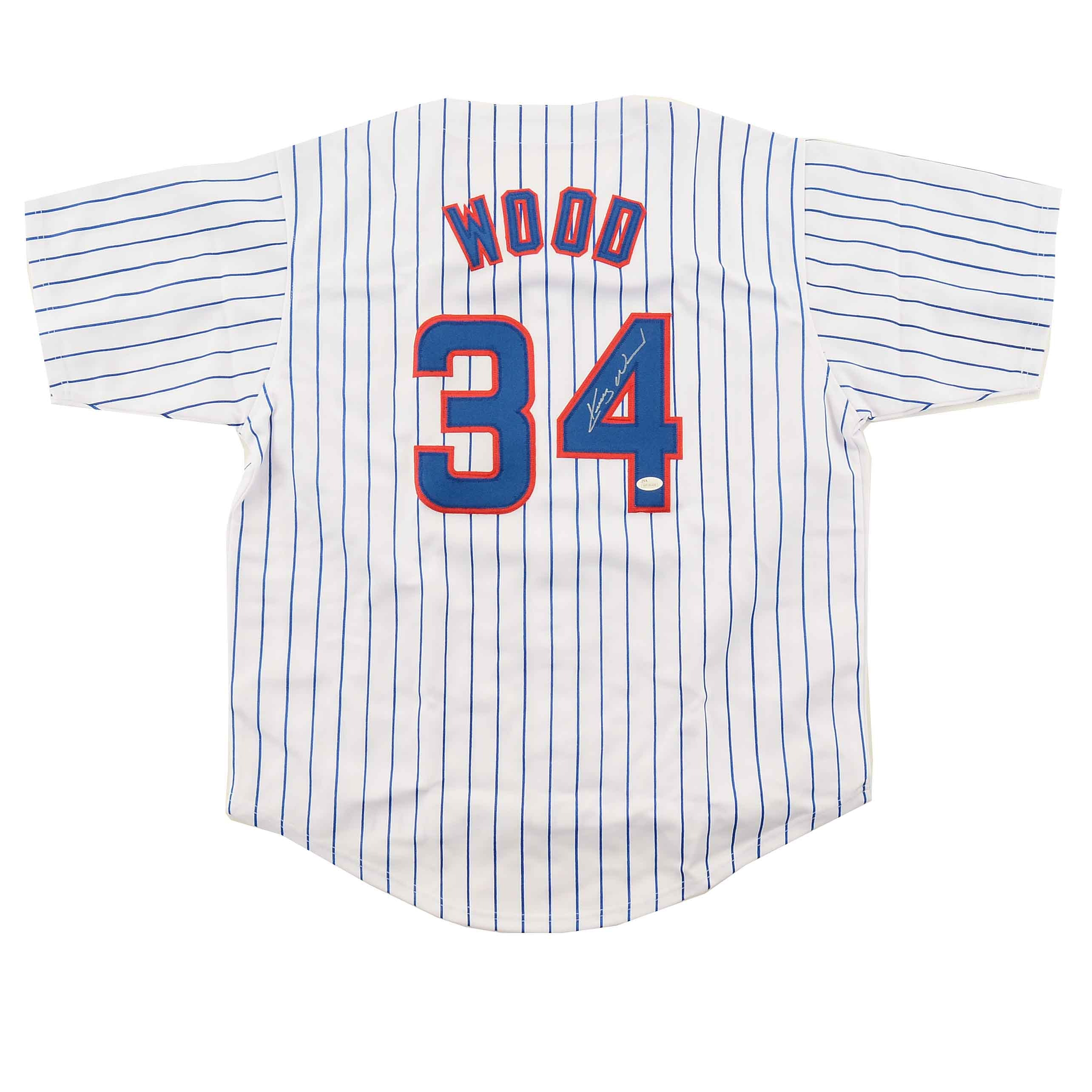 Kerry Wood Signed Cubs Jersey  COA