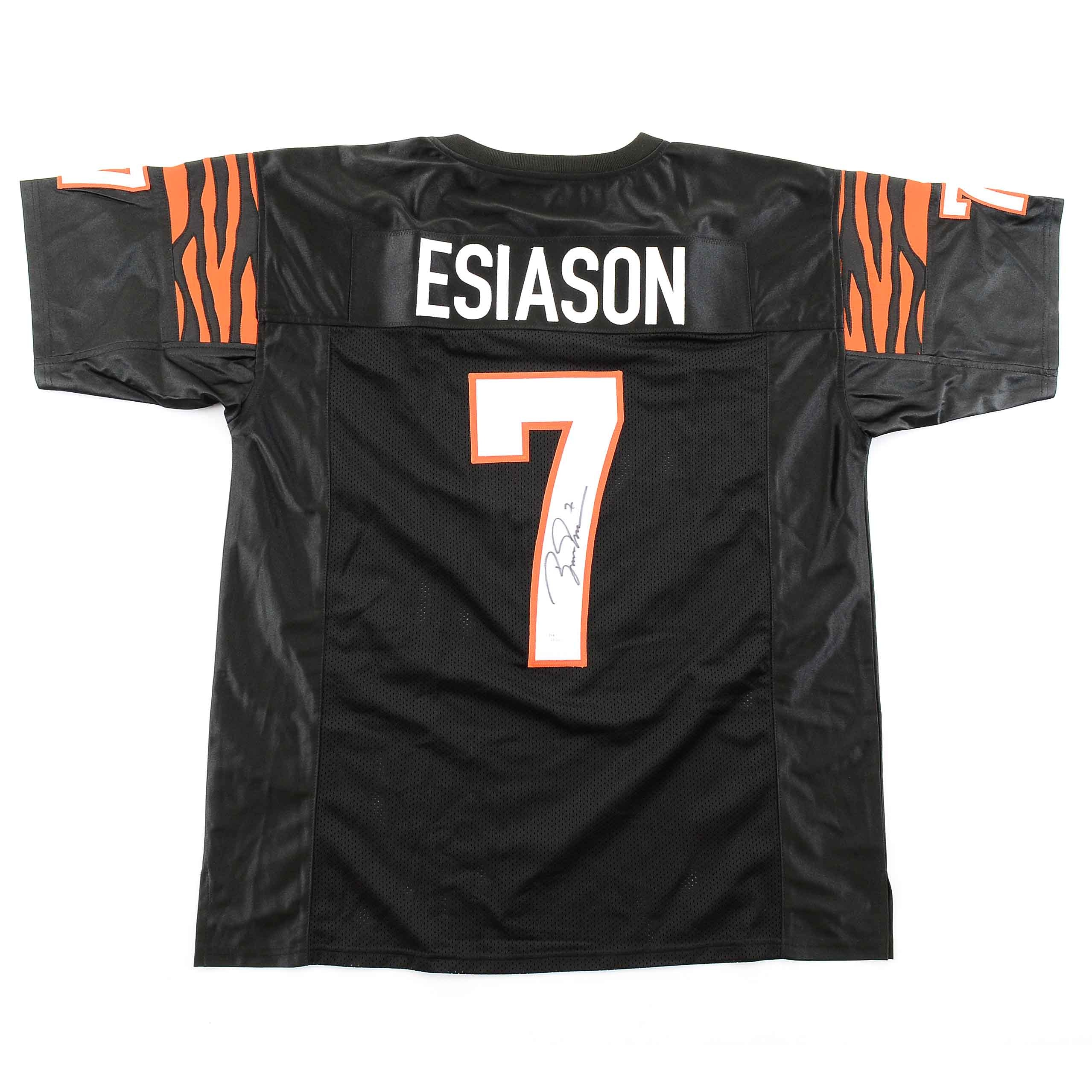 Boomer Esiason Signed Black Bengals Jersey  COA