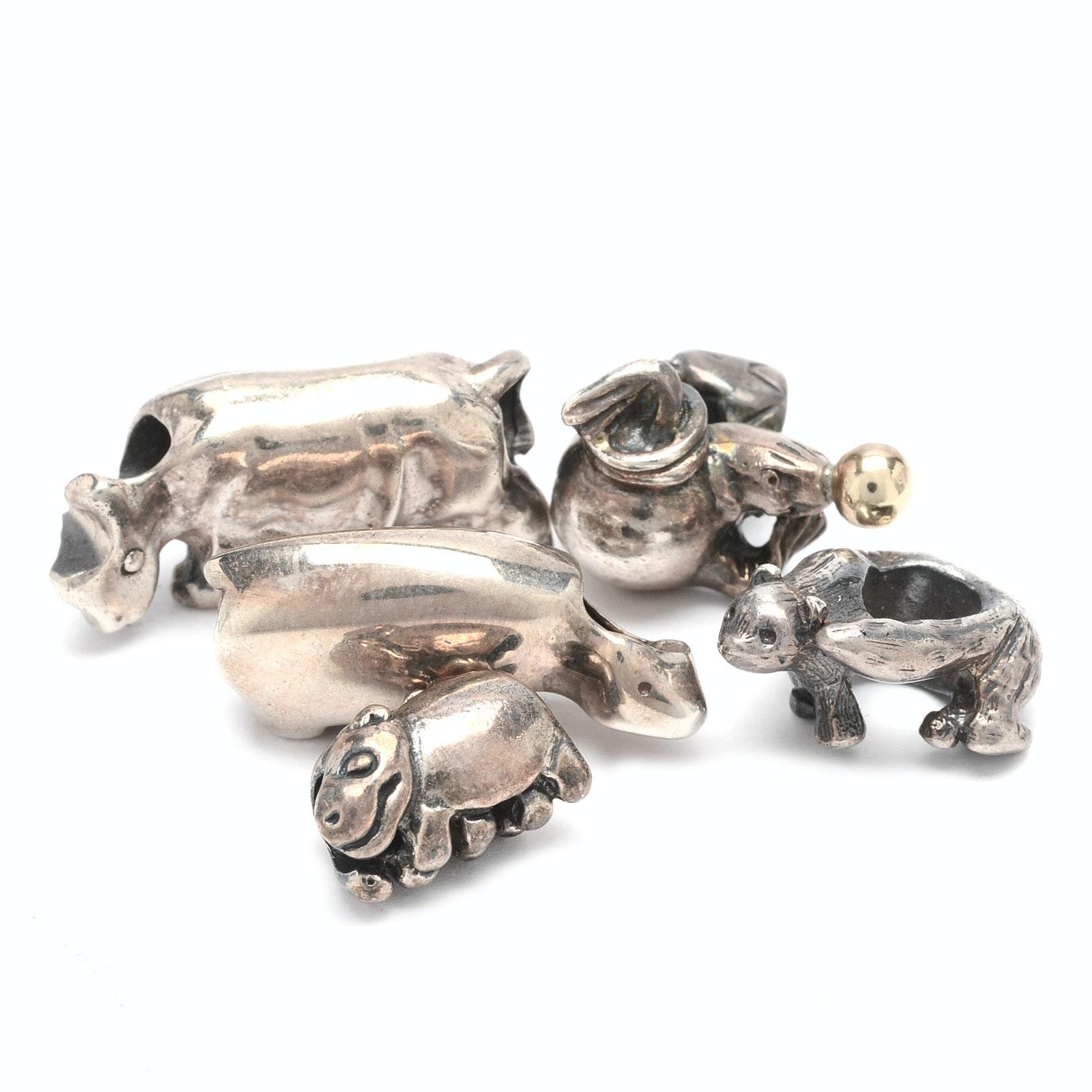 Trollbead Sterling Silver Animal Beads
